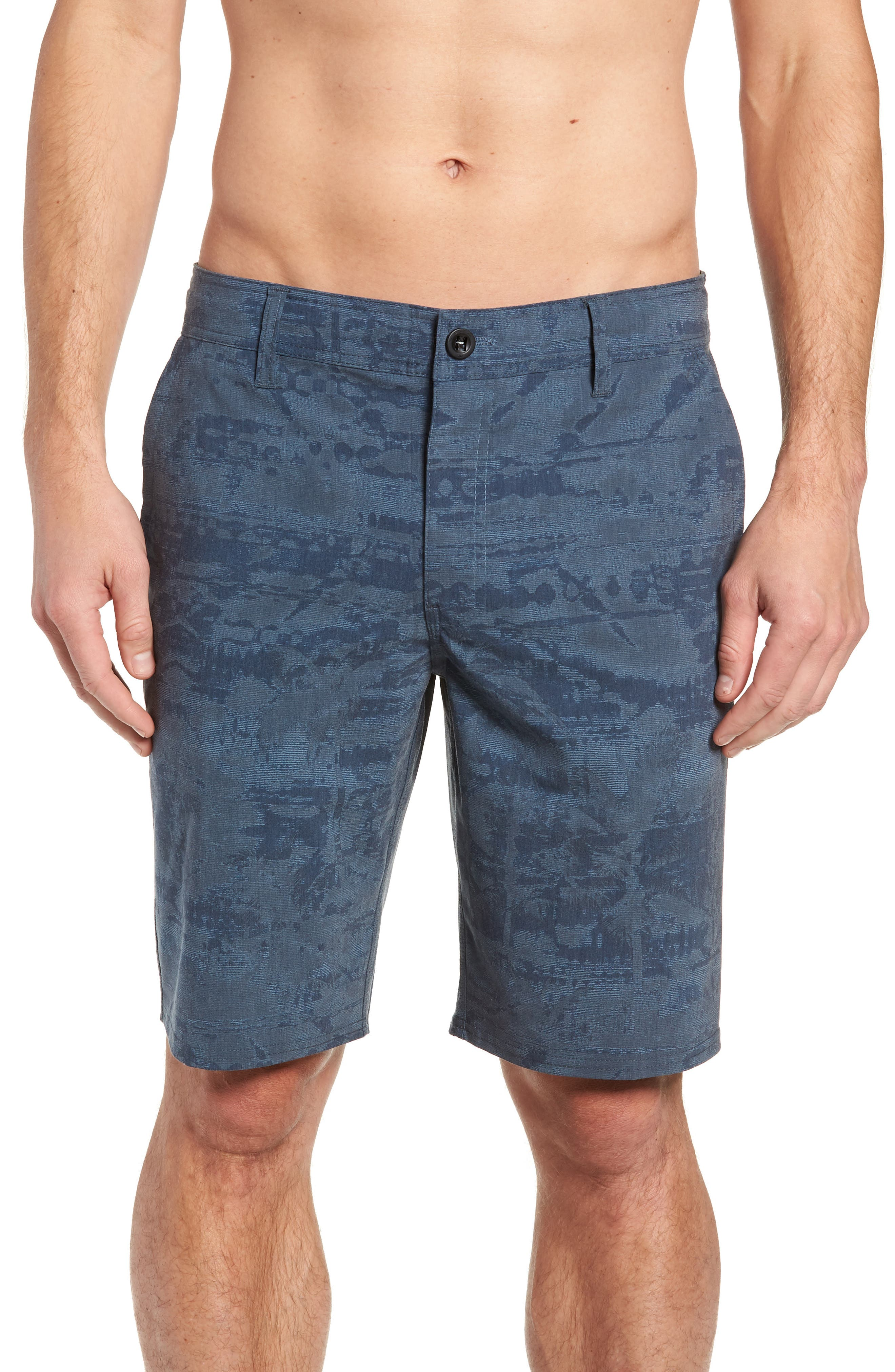 Mixed Hybrid Shorts,                             Alternate thumbnail 4, color,                             NAVY