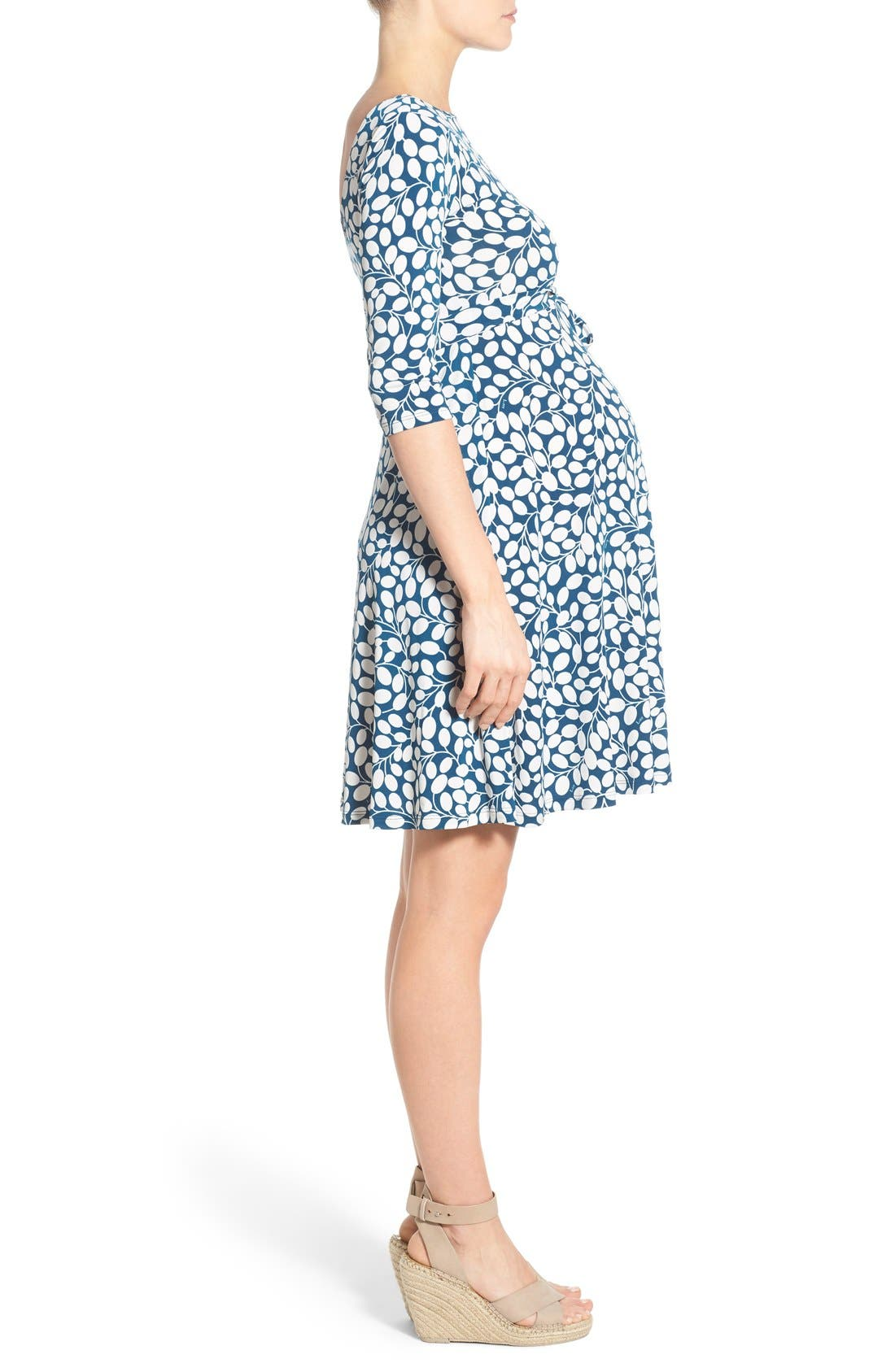 'Ilana' Belted Maternity Dress,                             Alternate thumbnail 20, color,