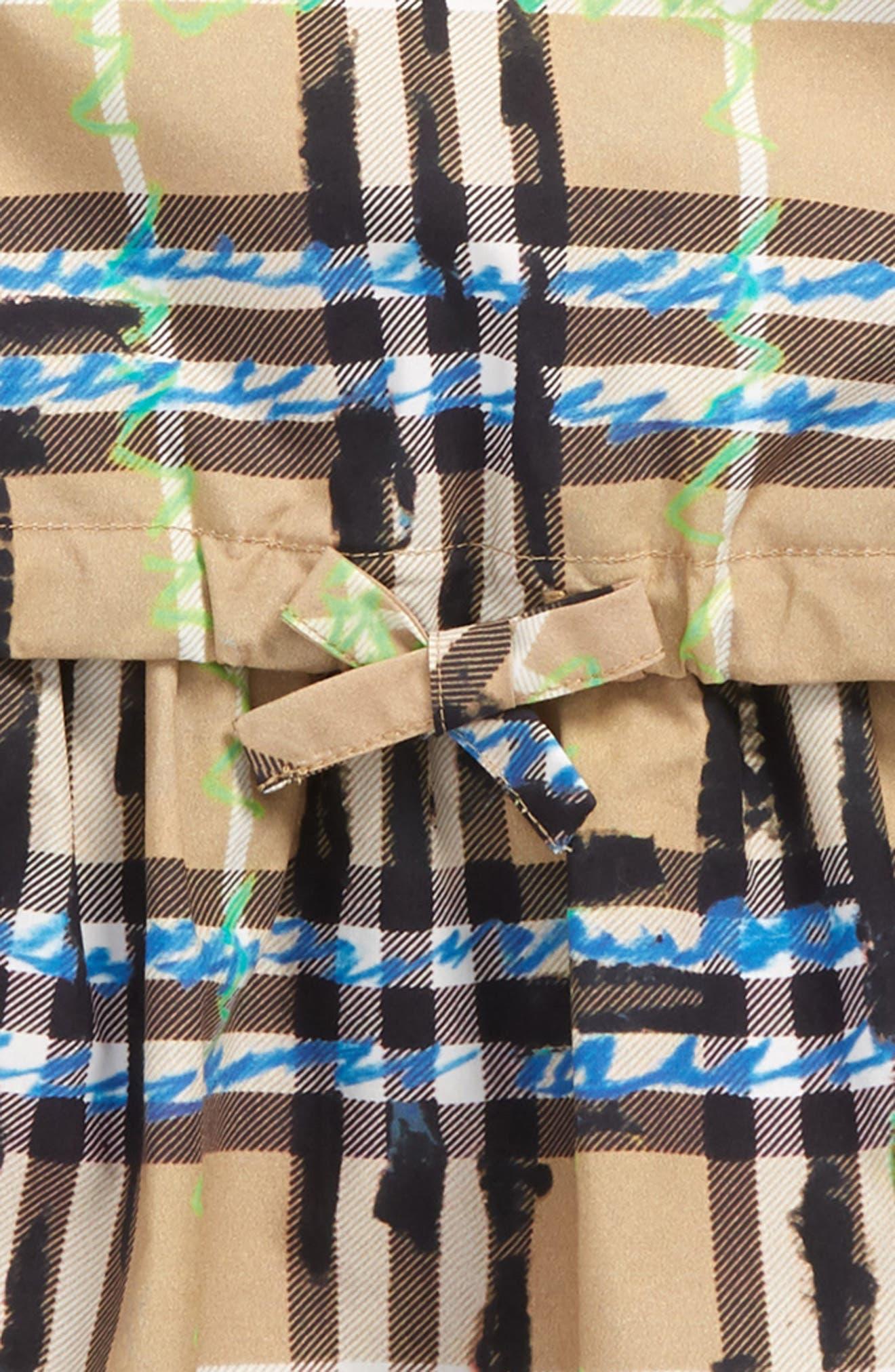 Mabel Check Dress,                             Alternate thumbnail 2, color,                             BRIGHT BLUE