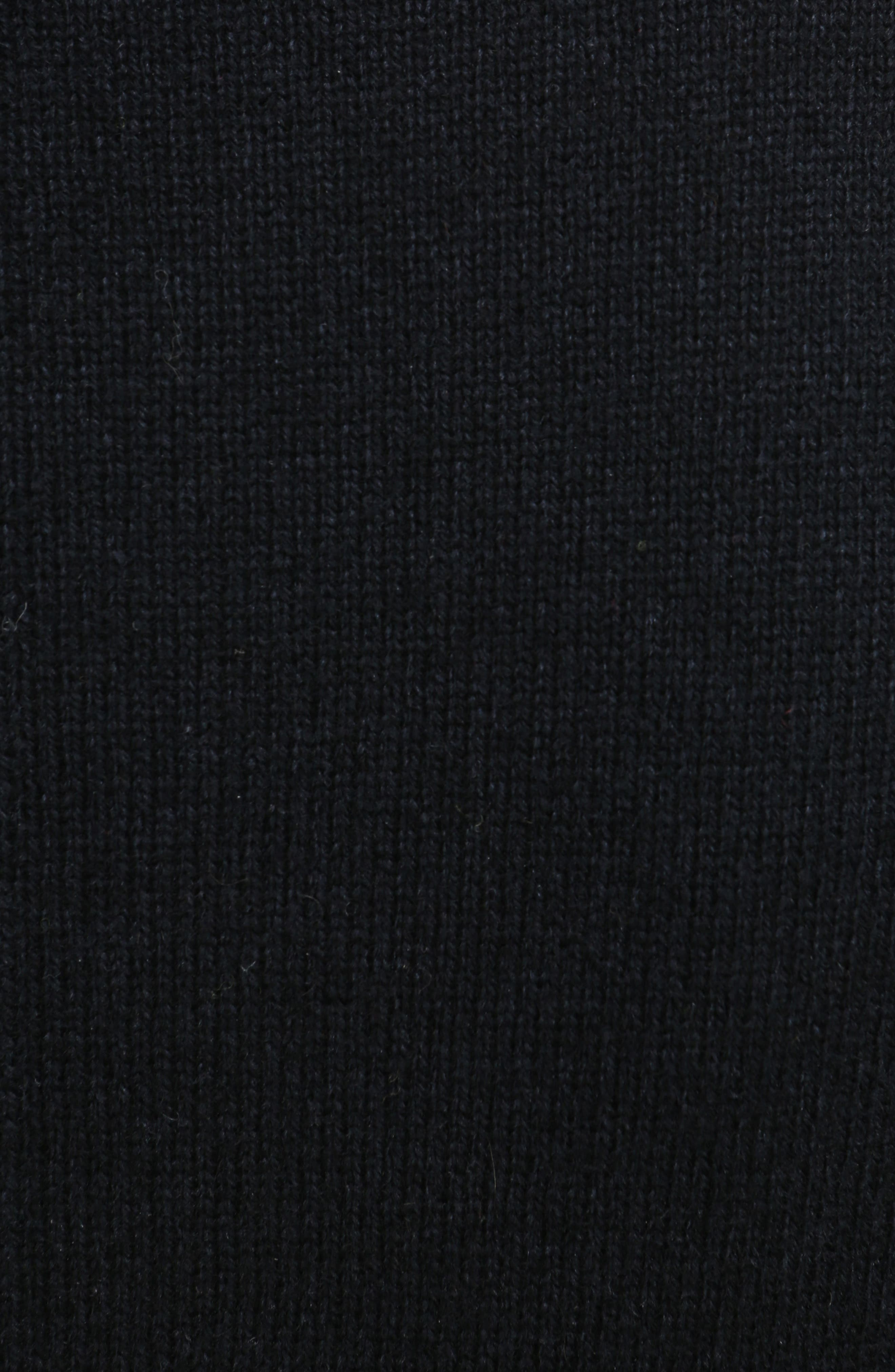 Imitation Pearl Inset Wool Blend Sweater,                             Alternate thumbnail 5, color,                             001