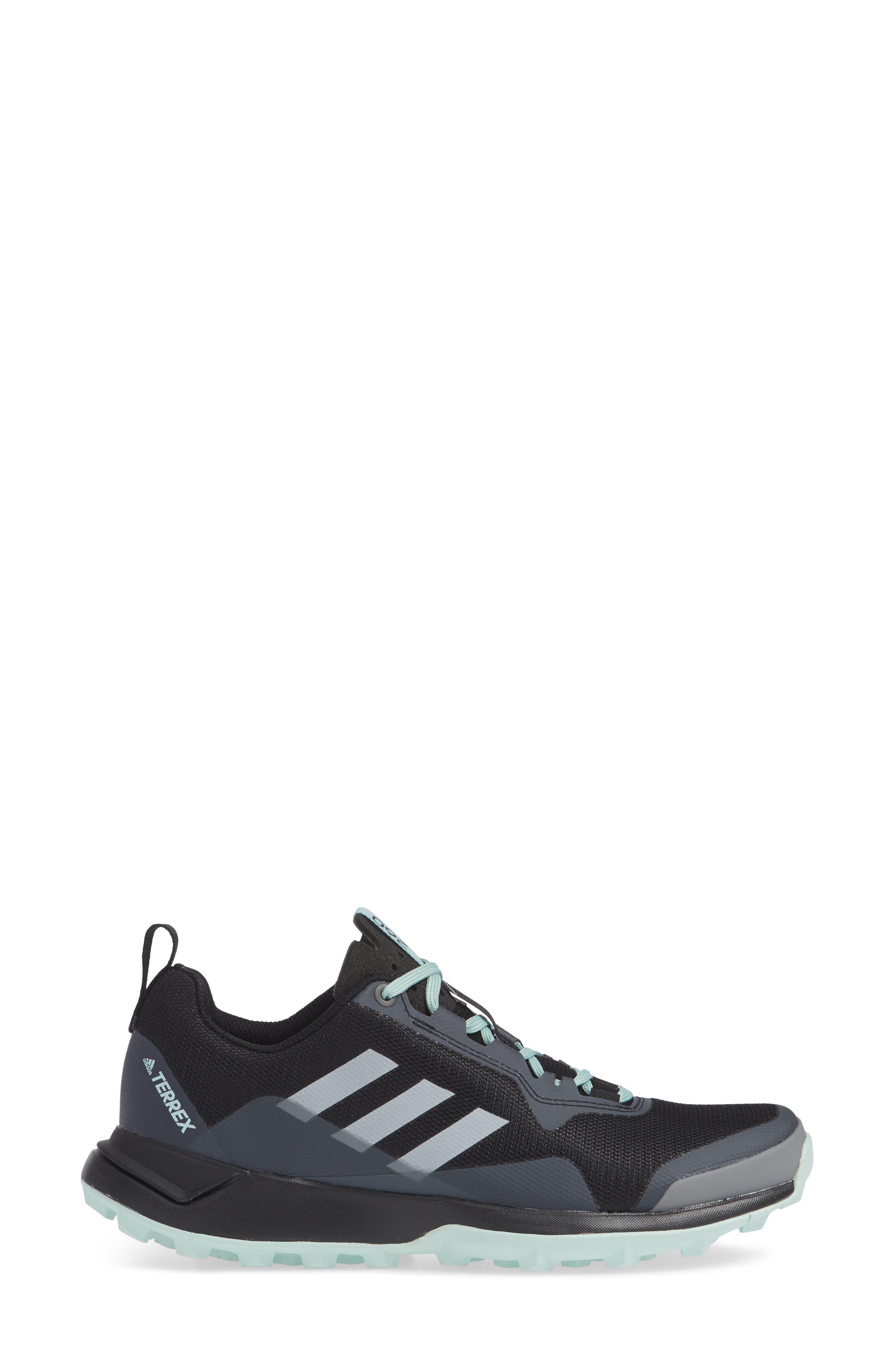 Terrex CMTK Gore-Tex<sup>®</sup> Waterproof Hiking Sneaker,                             Alternate thumbnail 3, color,                             BLACK/ CHALK WHITE/ ASH GREEN
