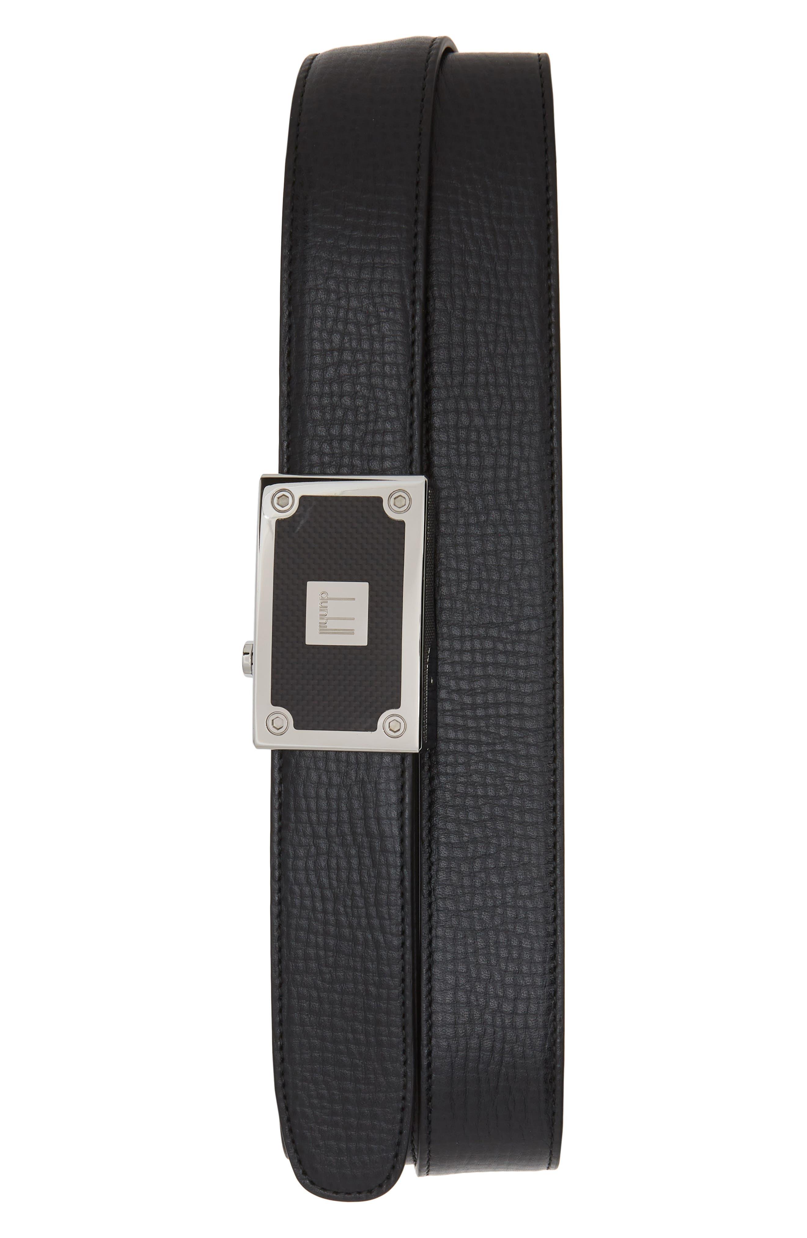 Auto Leather Belt,                             Main thumbnail 1, color,                             BLACK