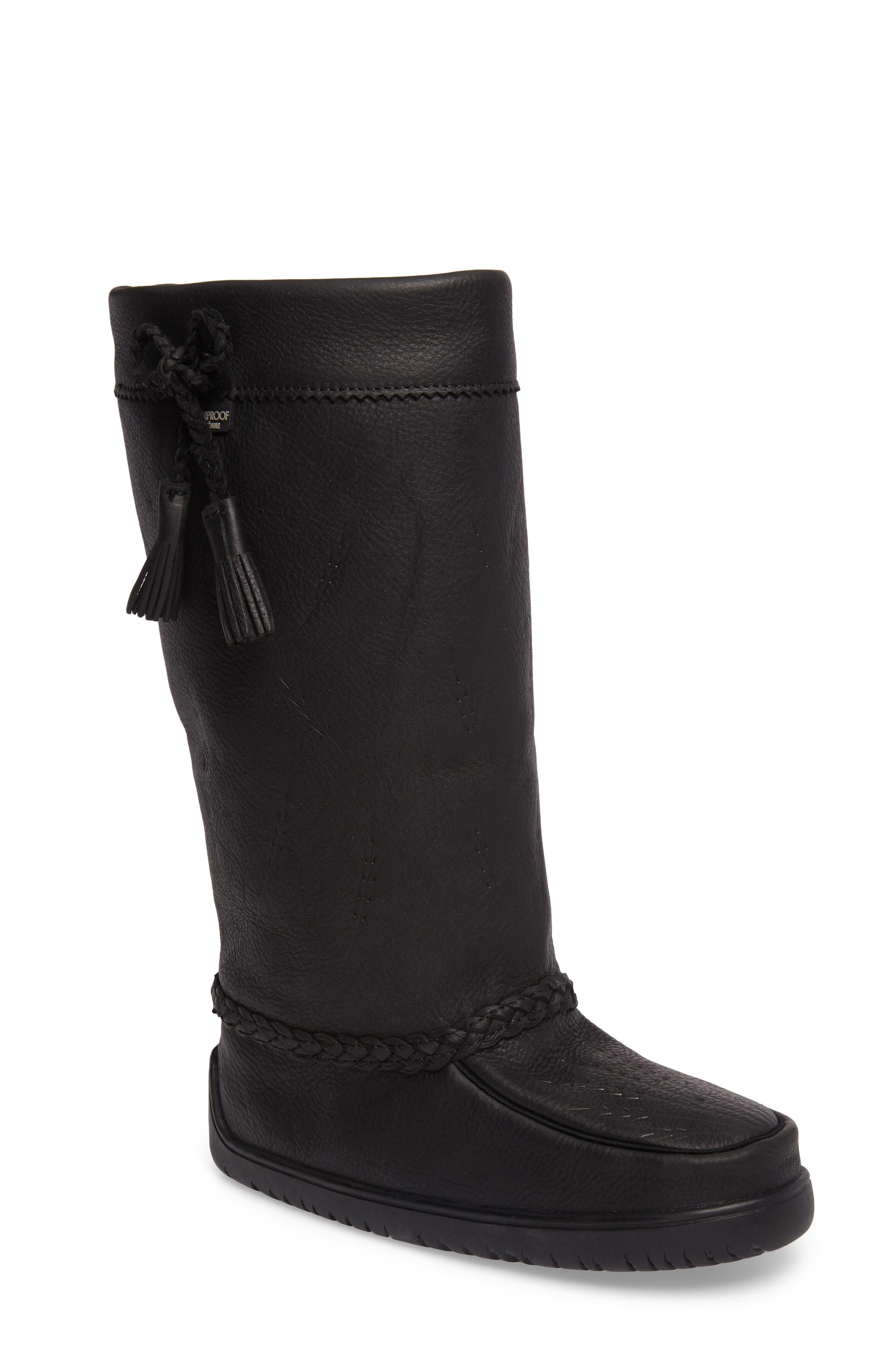 MANITOBAH MUKLUKS Tamarack Waterproof Genuine Shearling Boot, Main, color, 001
