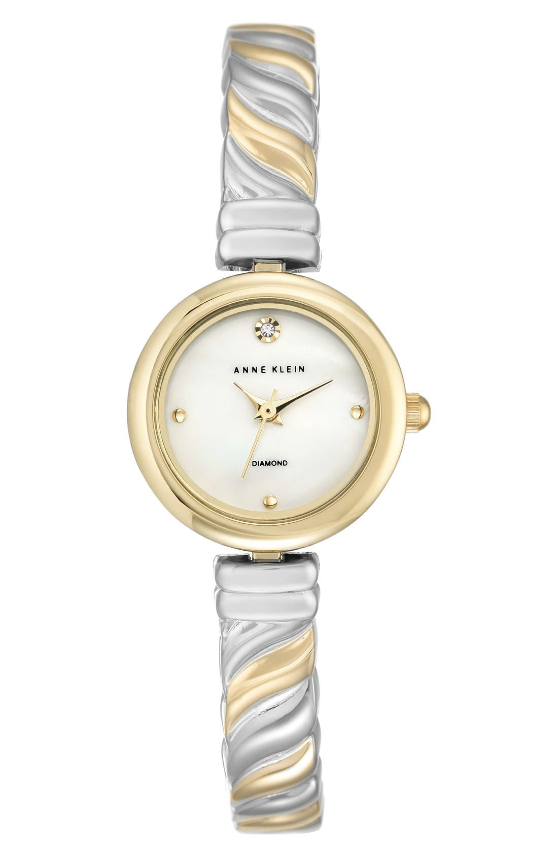 Diamond Dial Bangle Watch, 24mm,                         Main,                         color, 040