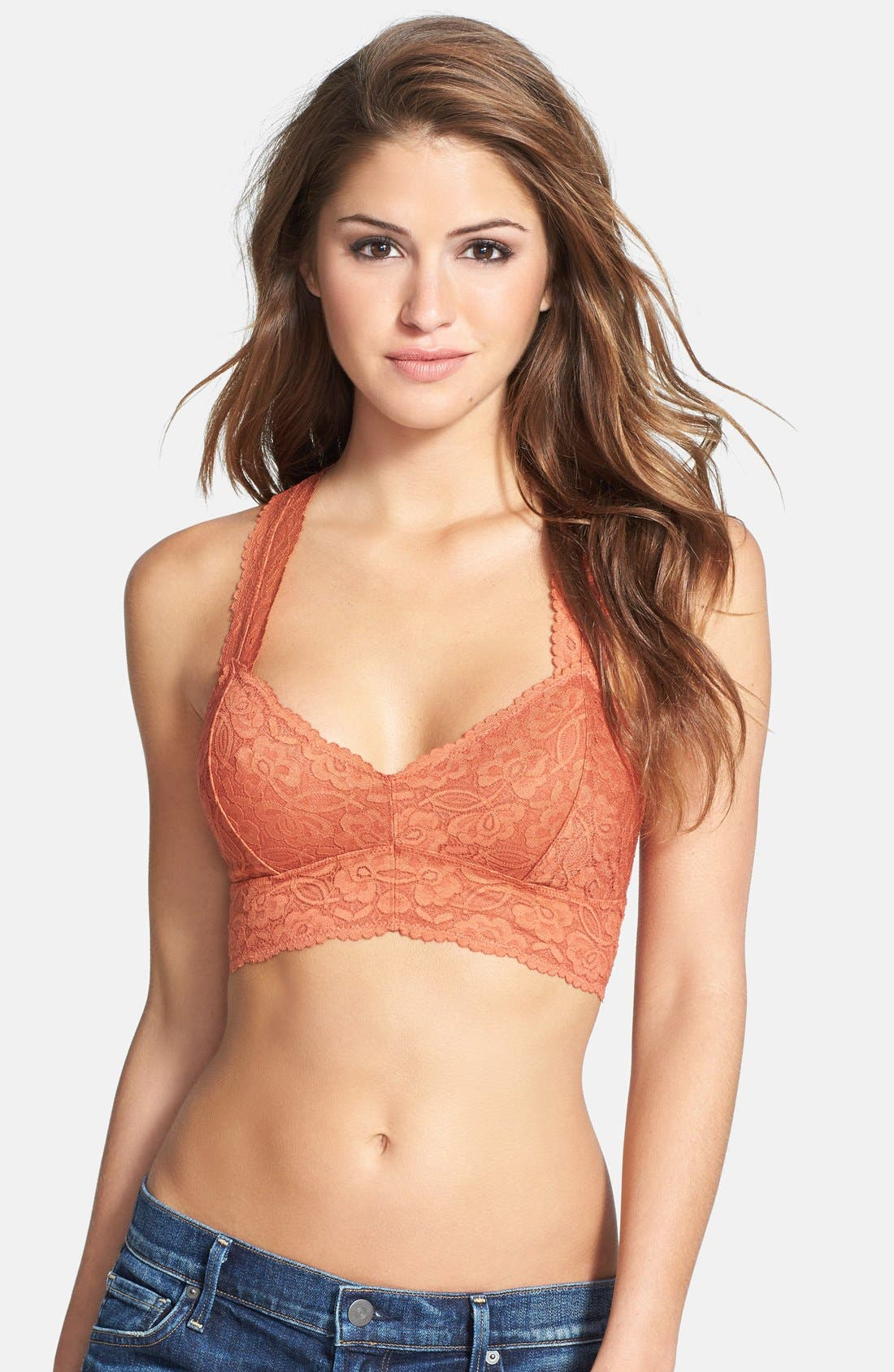 Racerback Galloon Lace Bralette,                             Main thumbnail 7, color,