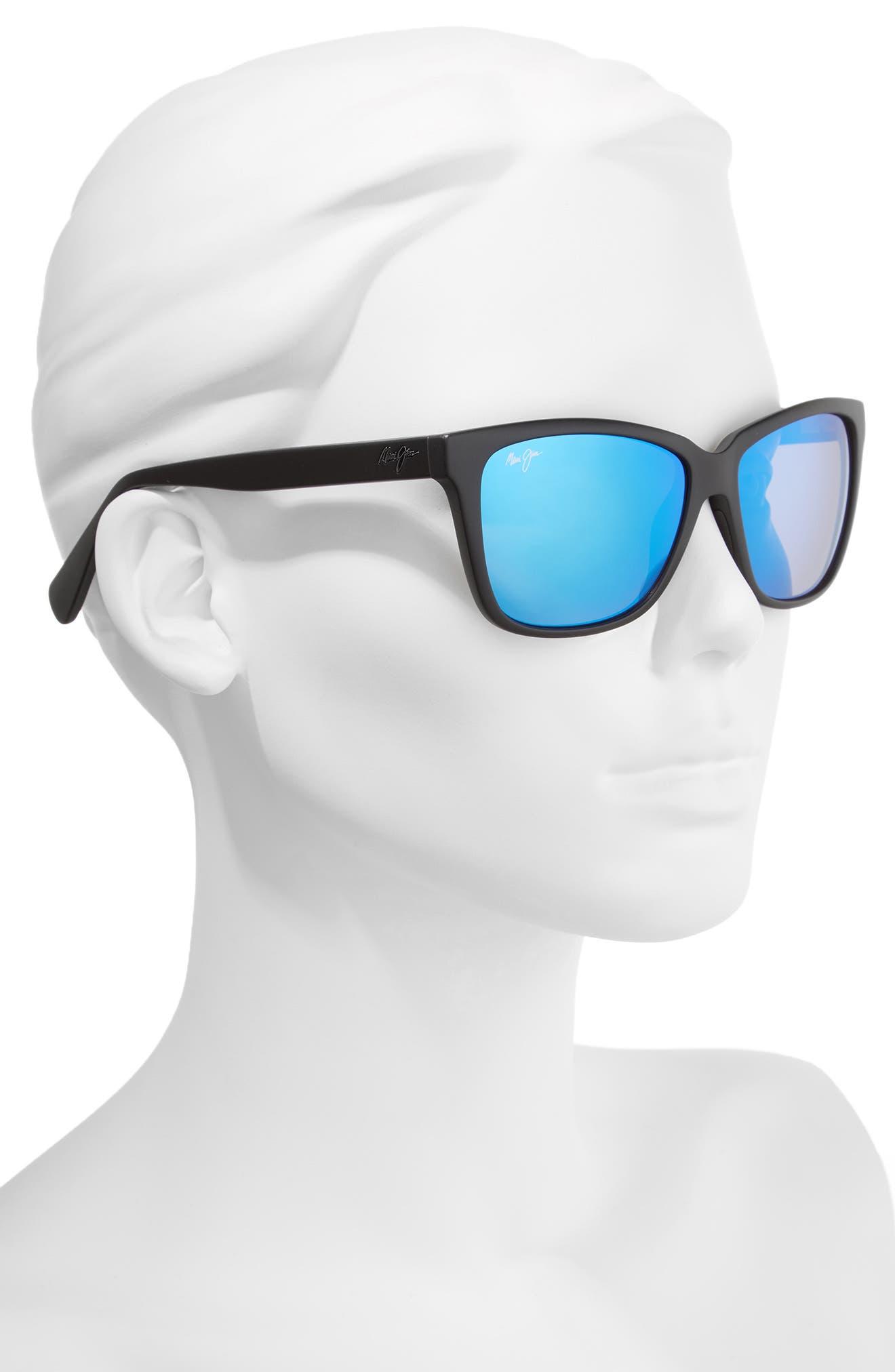 56mm Jacaranda Polarized Sunglasses,                             Alternate thumbnail 2, color,                             001