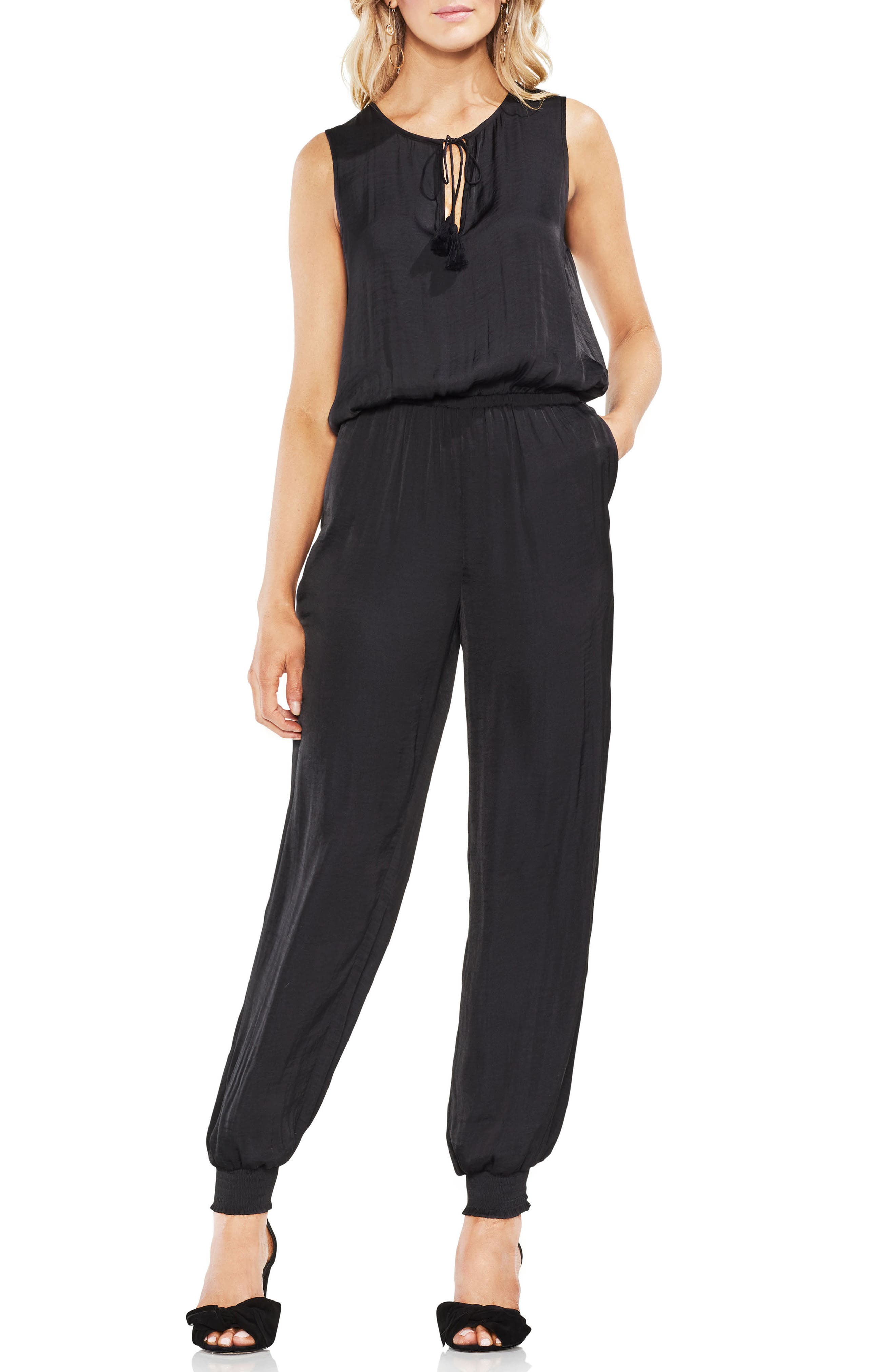 Hammered Satin Jumpsuit,                             Main thumbnail 1, color,