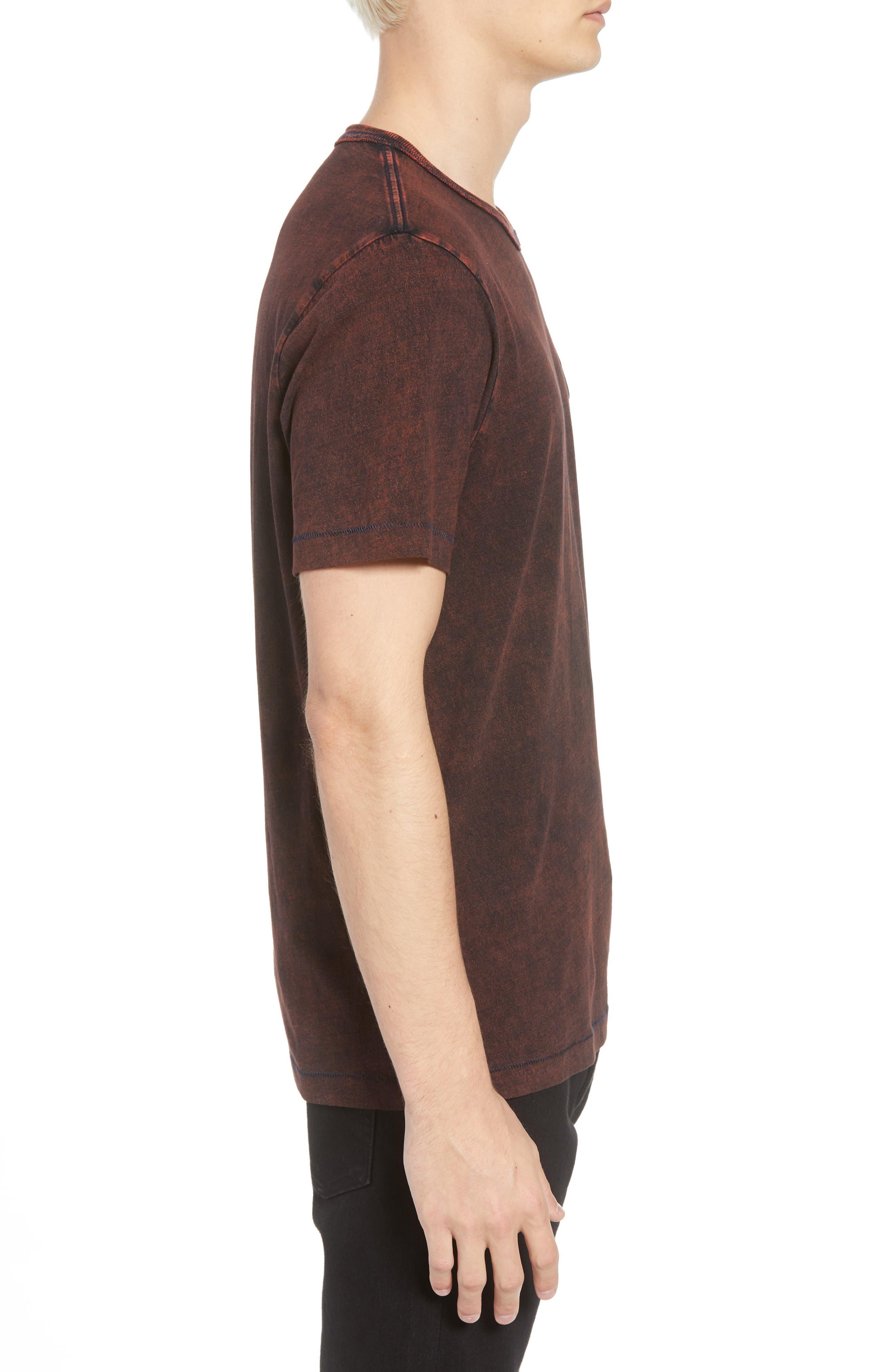 Washed Indigo Logo T-Shirt,                             Alternate thumbnail 3, color,                             INDIGO/ SUNBURST ORANGE COMBO