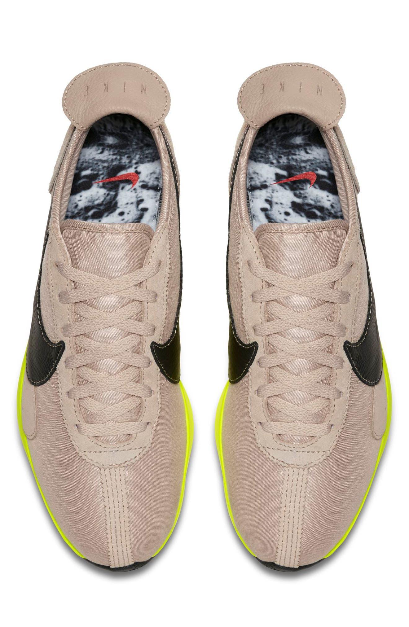 Moon Racer Sneaker,                             Alternate thumbnail 4, color,                             STRING/ BLACK/ SAIL/ VOLT