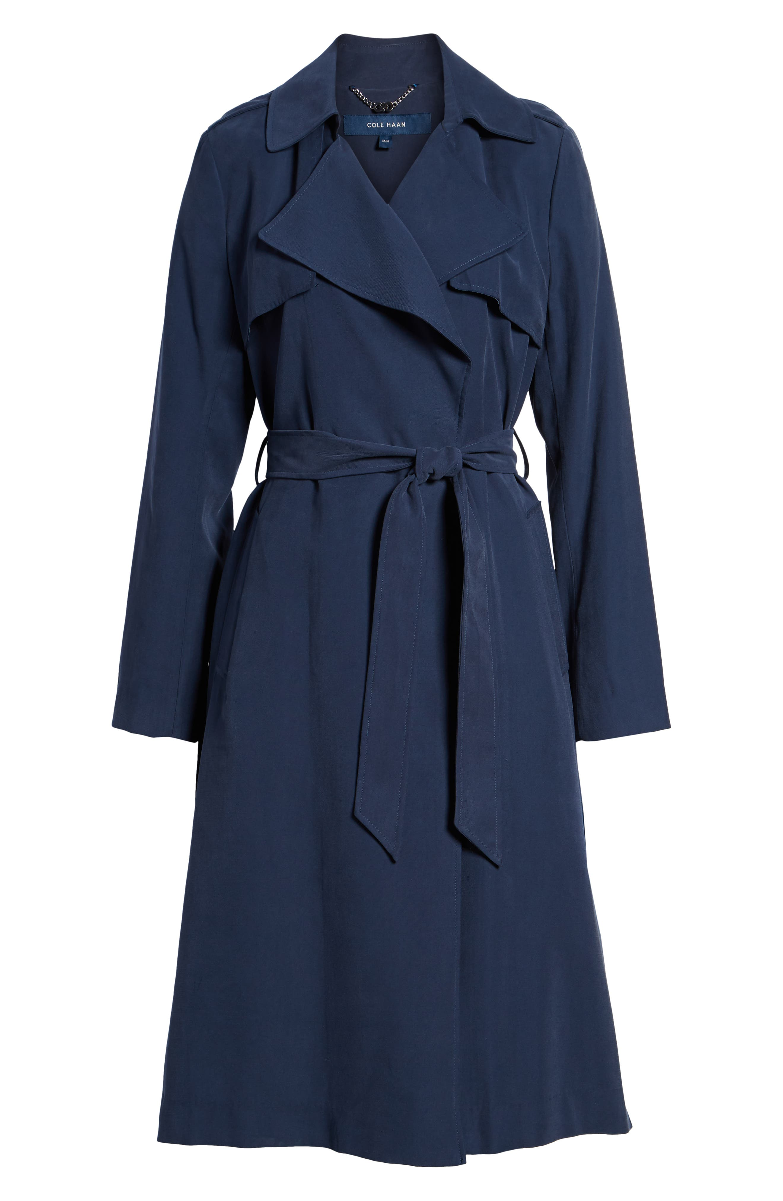 Long Drapey Trench Coat,                             Alternate thumbnail 5, color,                             410