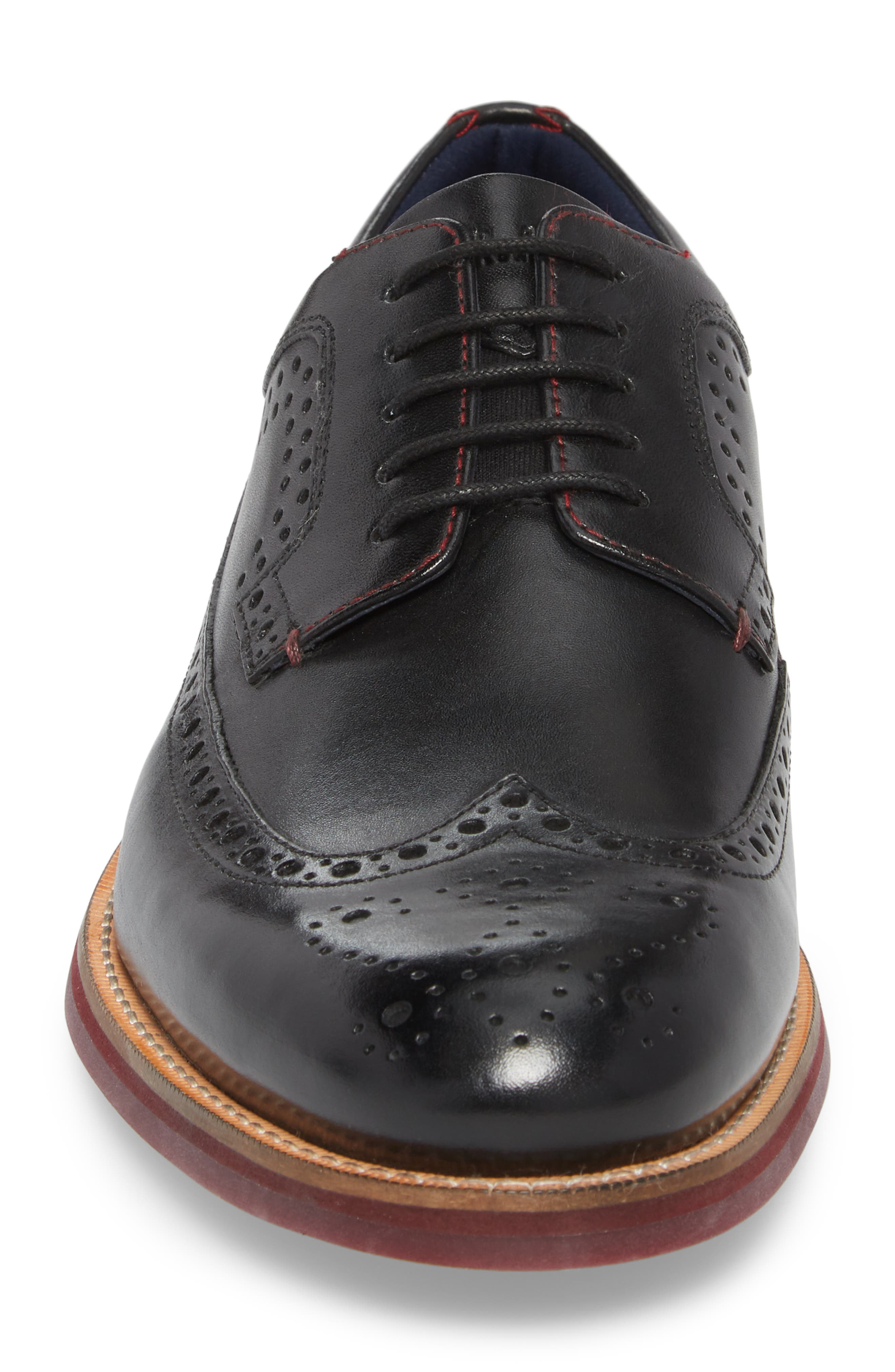 Mition Wingtip Derby,                             Alternate thumbnail 4, color,                             BLACK LEATHER