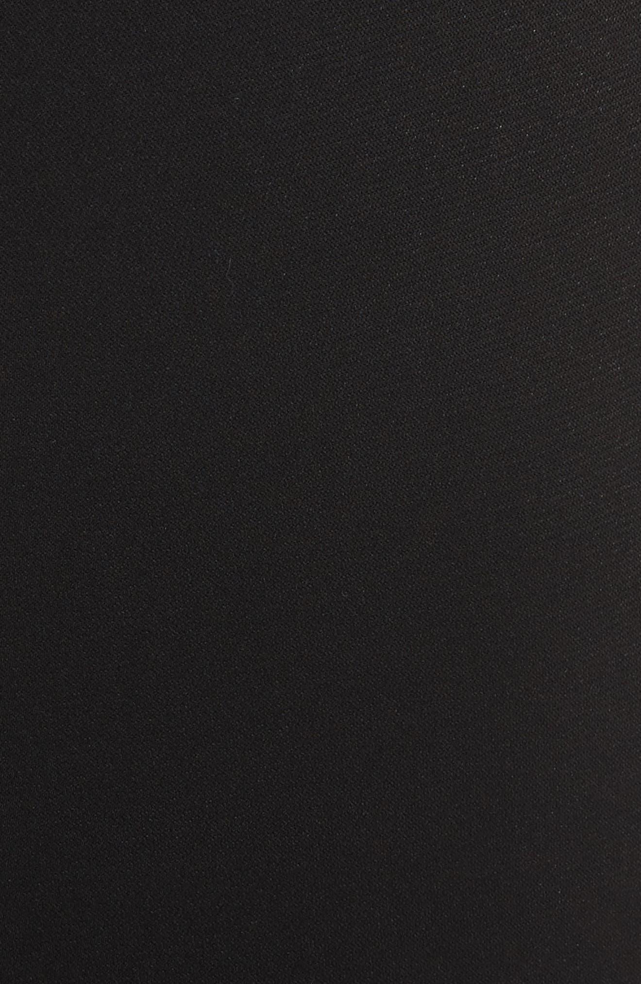 Classic Stretch Cady Pants,                             Alternate thumbnail 6, color,                             CAVIAR