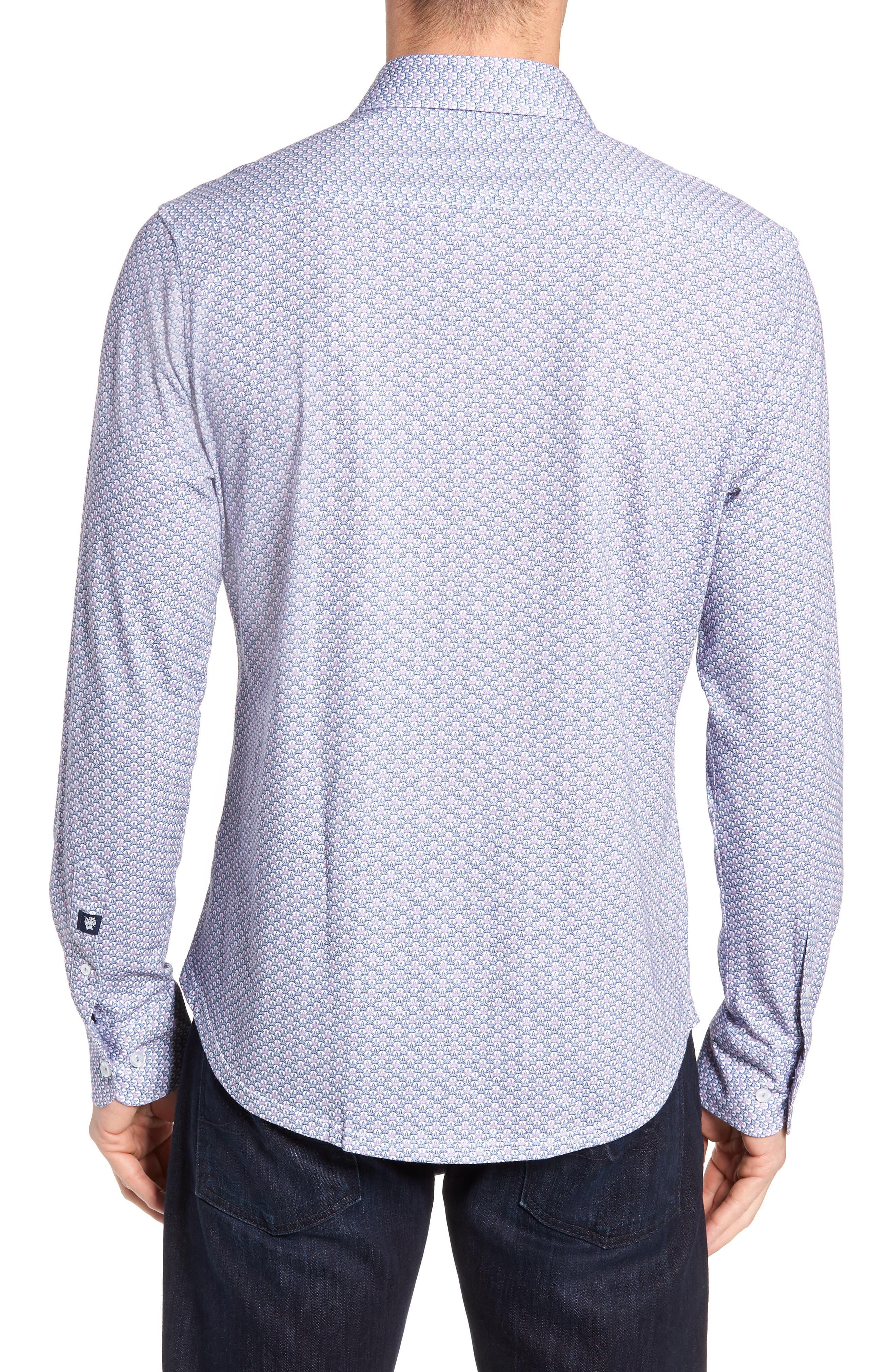 Trim Fit Knit Sport Shirt,                             Alternate thumbnail 3, color,                             100