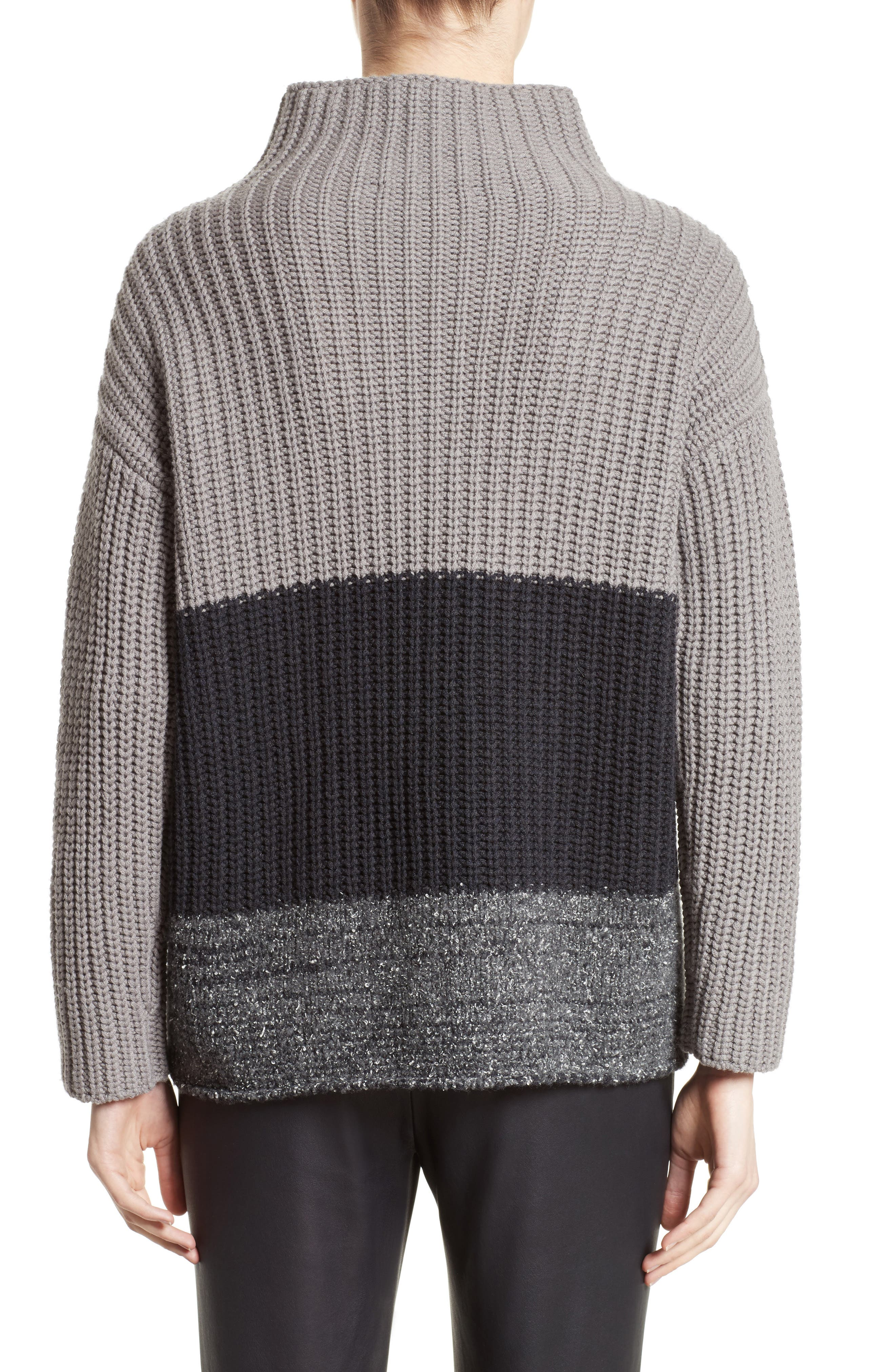 Ribbed Colorblock Sweater,                             Alternate thumbnail 2, color,                             021