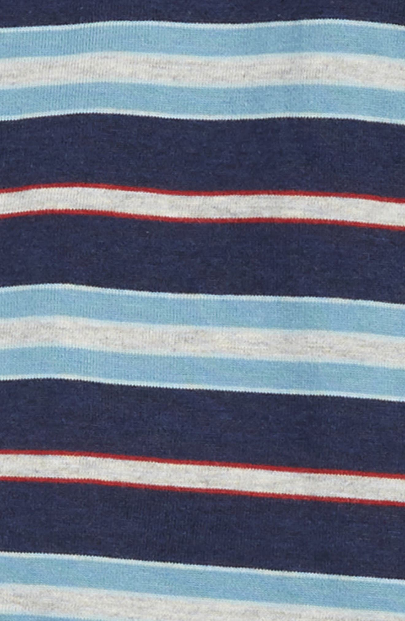 Stripe Top & Sweatpants Set,                             Alternate thumbnail 2, color,                             LIGHT GREY HEATHER