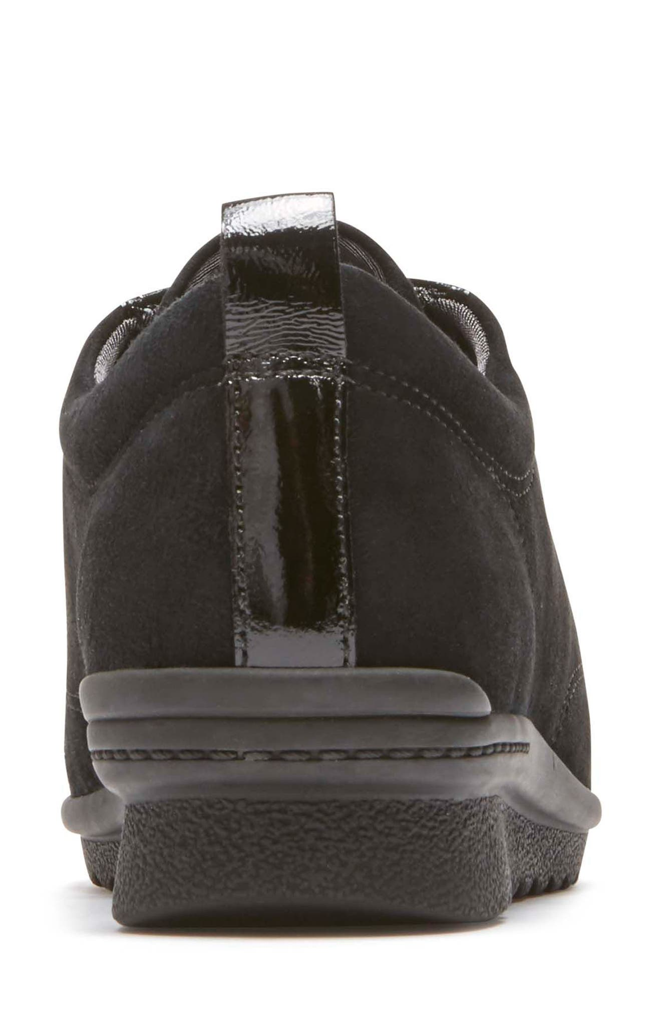 Chenole Wedge Sneaker,                             Alternate thumbnail 7, color,                             BLACK SUEDE