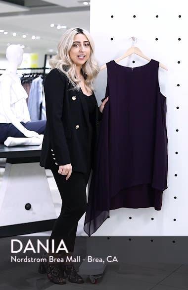 Sleeveless Overlay Crepe Sheath Dress, sales video thumbnail