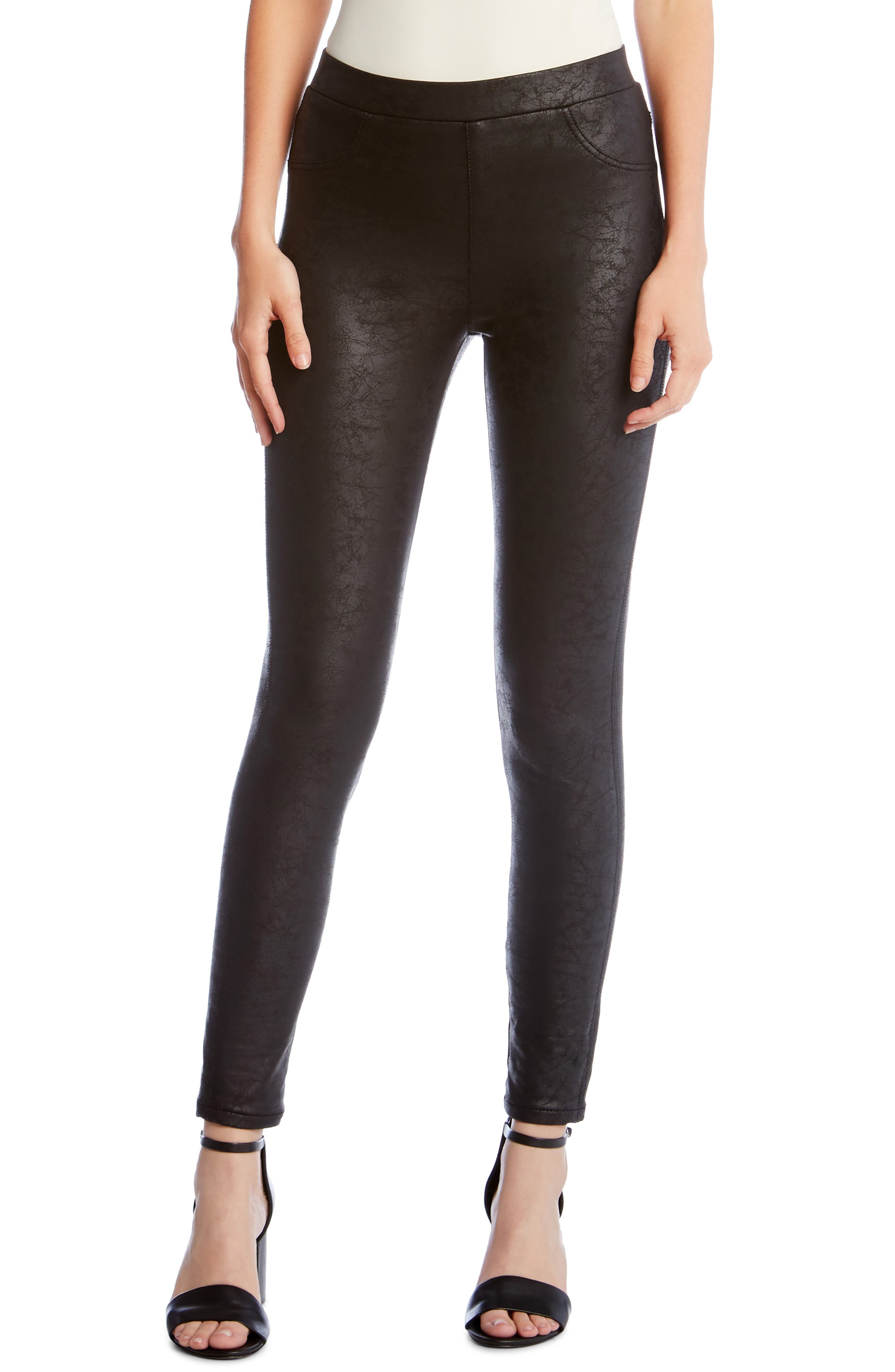 Faux Leather Pants, Main, color, BLACK