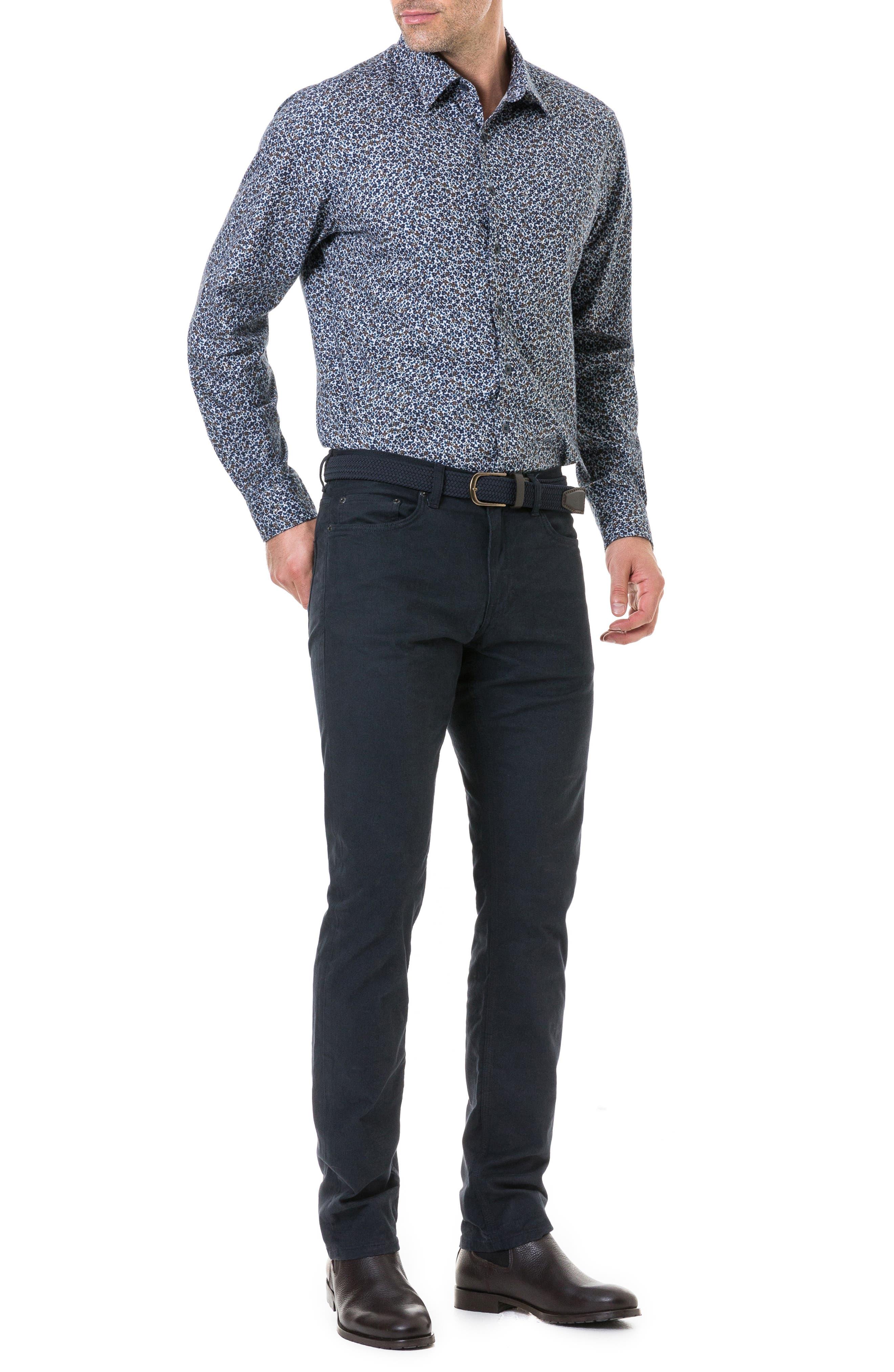 Freys Crescent Regular Fit Flannel Sport Shirt,                             Alternate thumbnail 5, color,                             BLUEBERRY