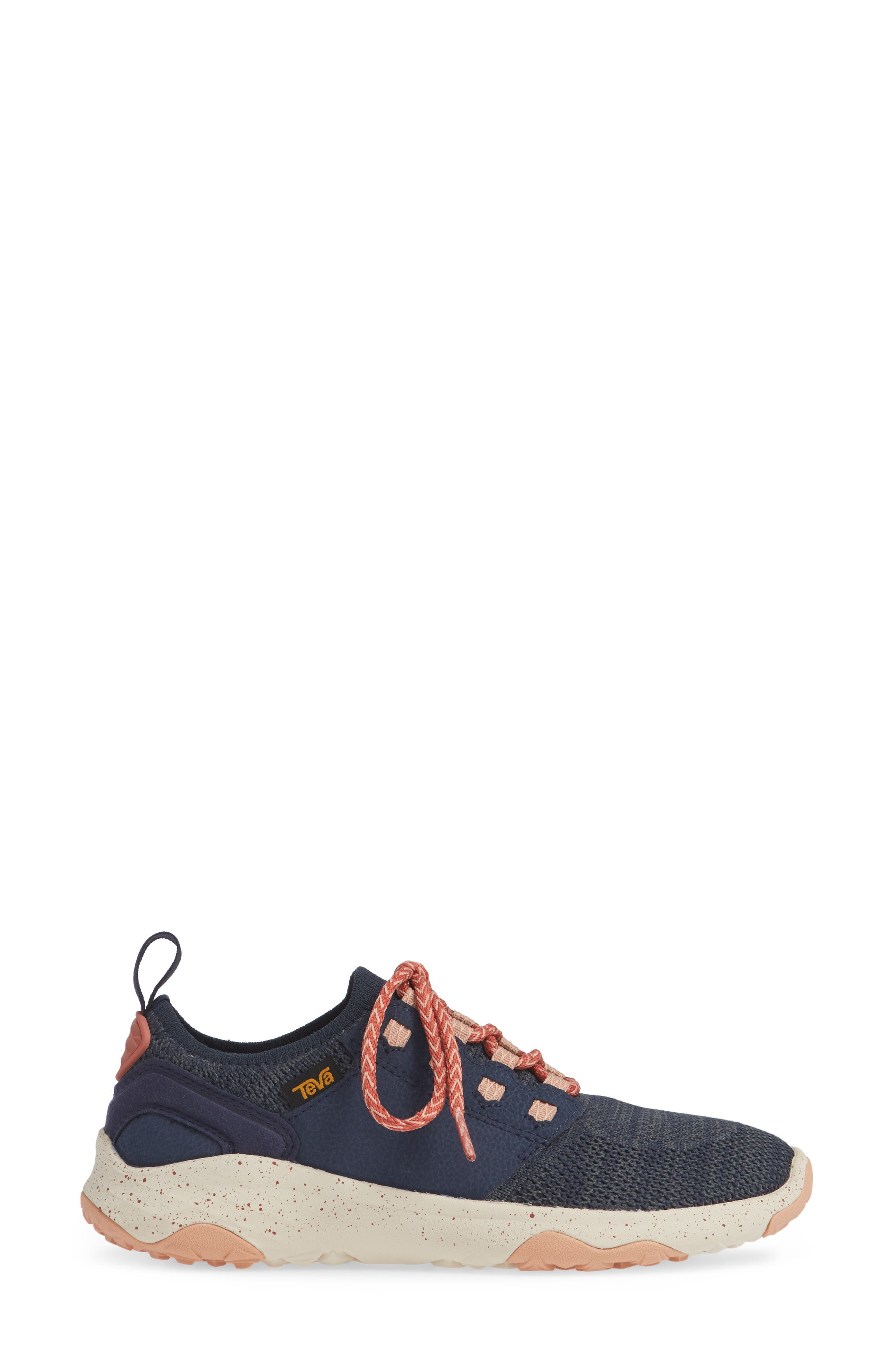 Arrowood 2 Waterproof Knit Sneaker,                             Alternate thumbnail 3, color,                             MIDNIGHT NAVY FABRIC