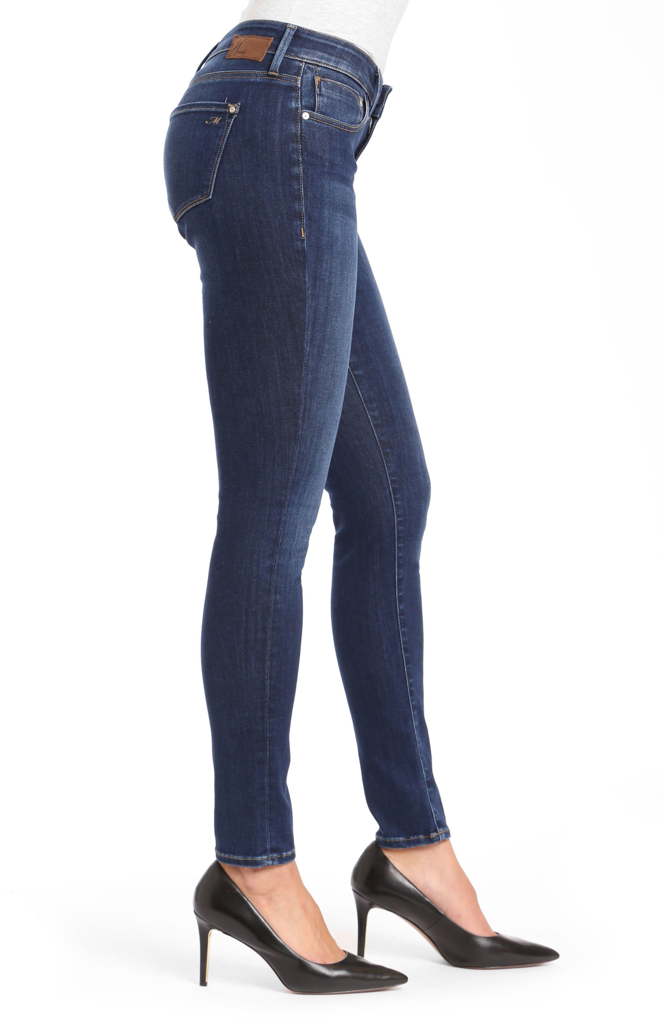 Alexa Supersoft Skinny Jeans,                             Alternate thumbnail 3, color,                             DARK SUPER SOFT