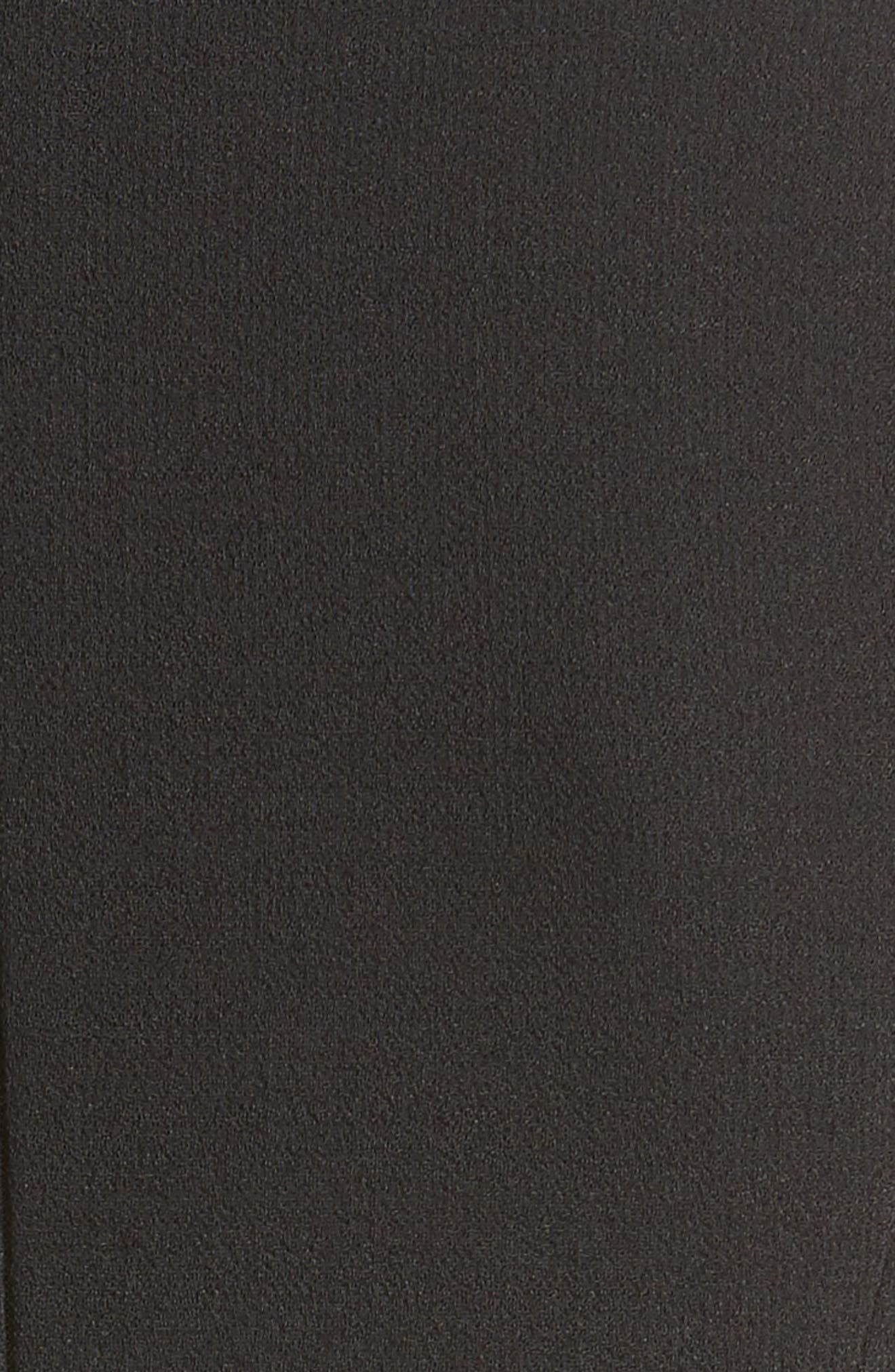 Belted Stretch Bouclé Crepe Sheath Dress,                             Alternate thumbnail 6, color,                             001