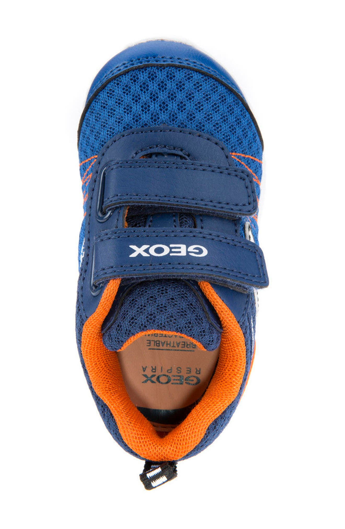 Waviness Waterproof Sneaker,                             Alternate thumbnail 4, color,                             NAVY/ ORANGE
