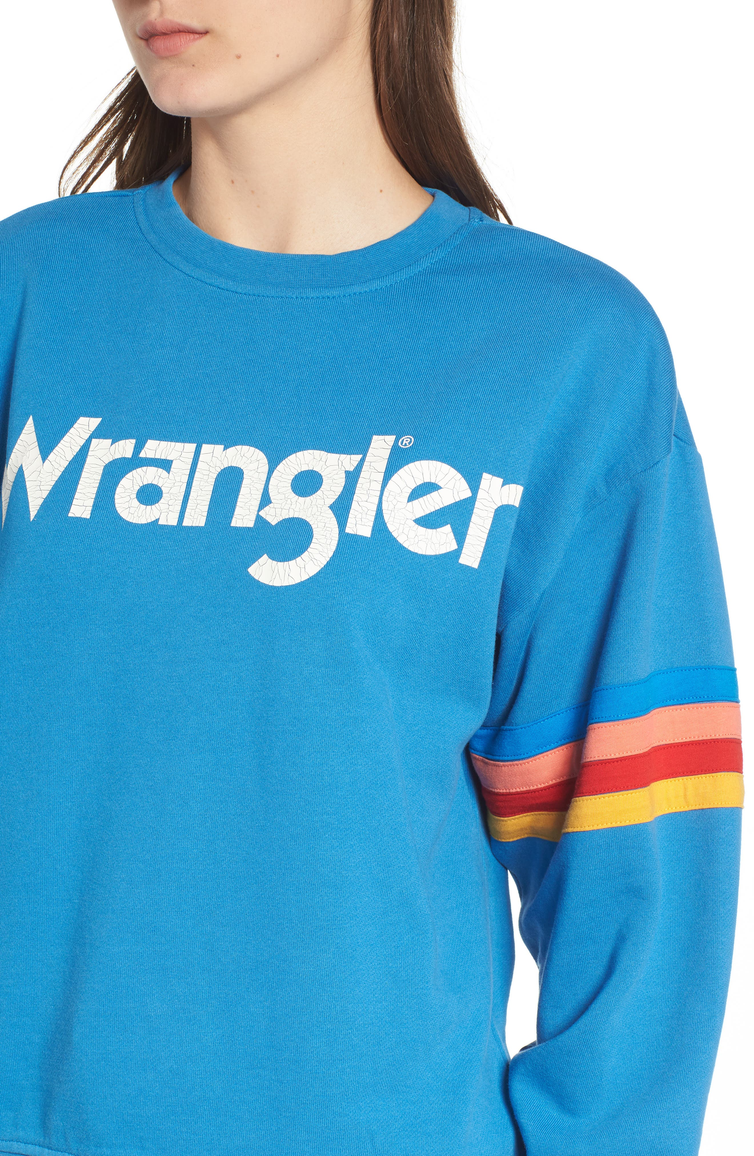 Kabel Graphic Sweatshirt,                             Alternate thumbnail 4, color,                             DEEP WATER