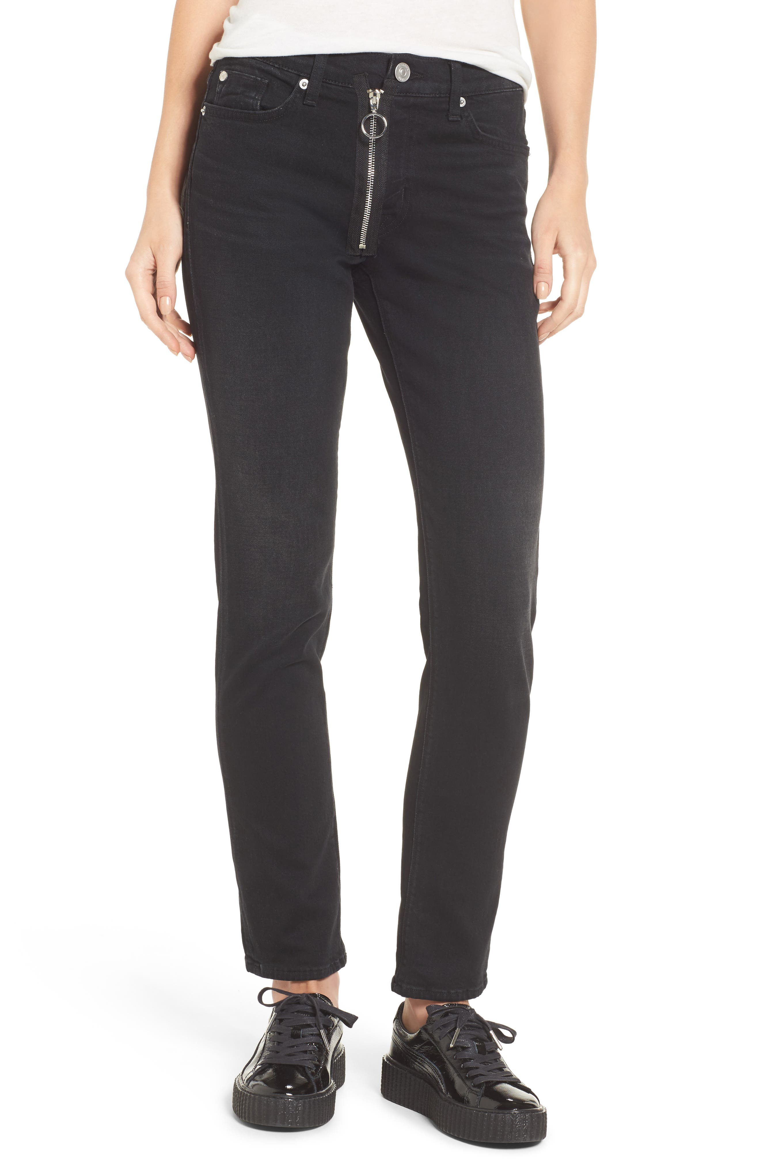 Riley Relaxed Straight Fit Jeans,                             Main thumbnail 1, color,                             001