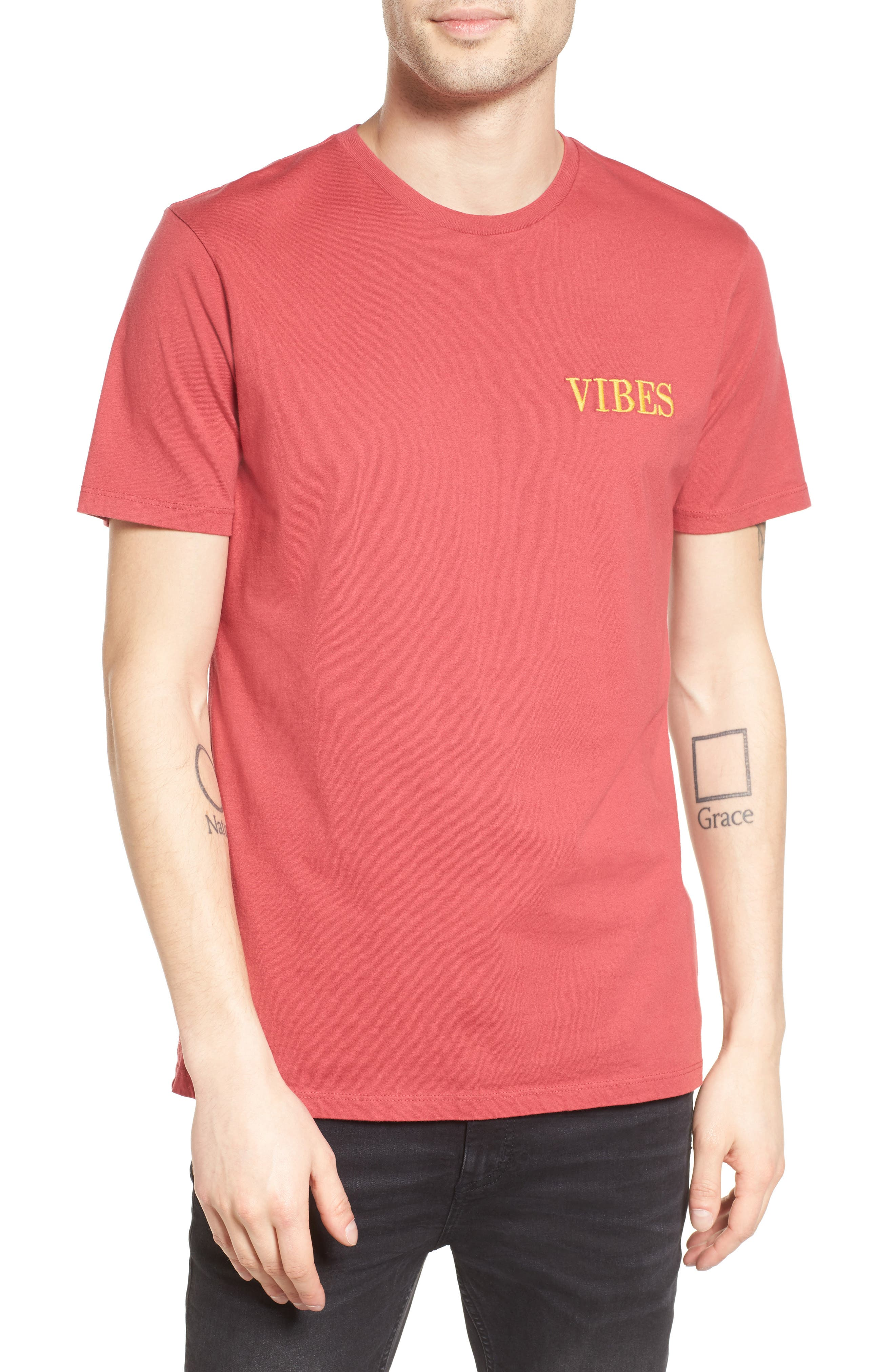 Vibes Embroidered T-Shirt,                             Main thumbnail 1, color,                             685