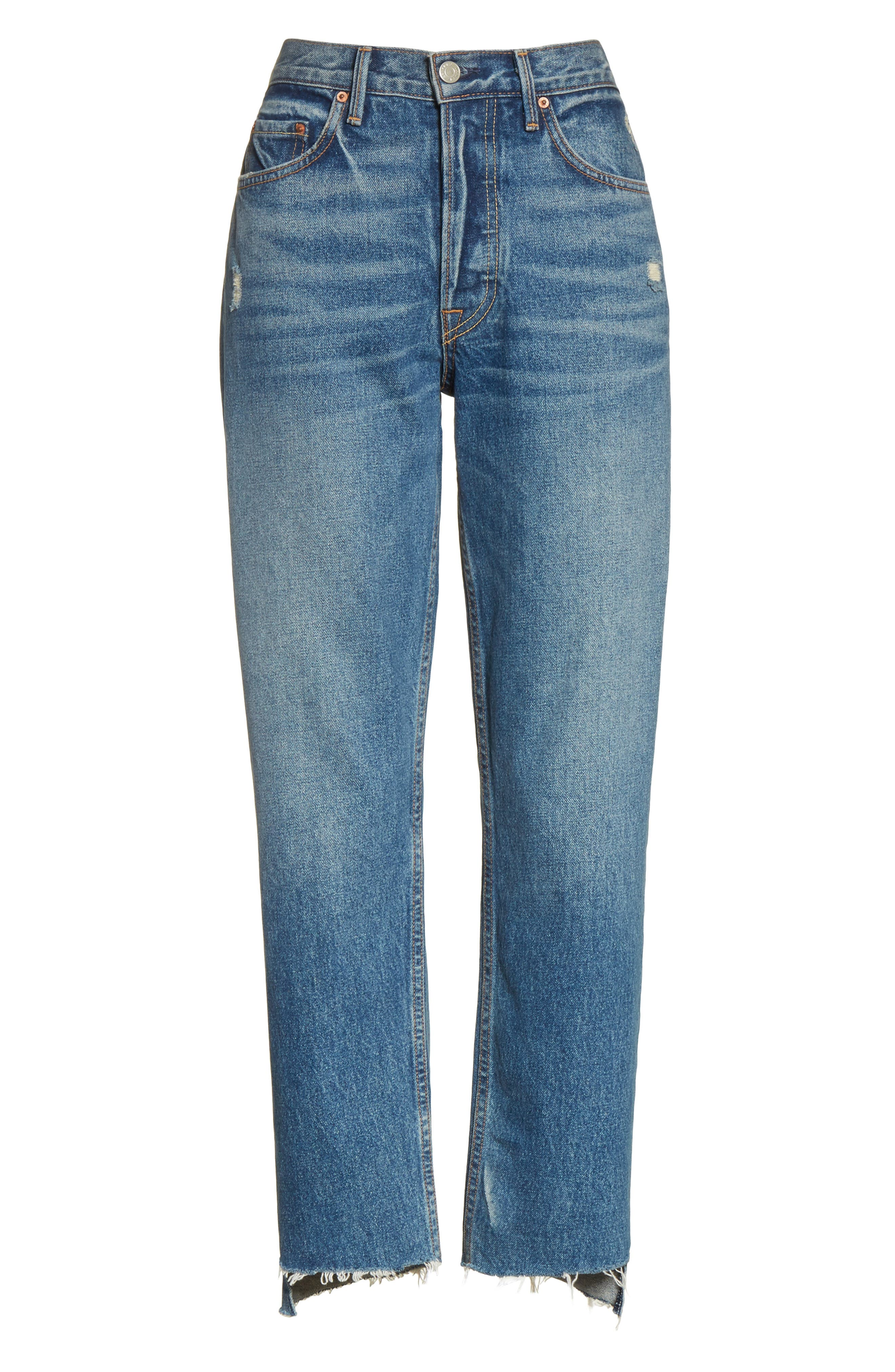 Helena Rigid High Waist Straight Jeans,                             Alternate thumbnail 7, color,                             CLOSE TO YOU