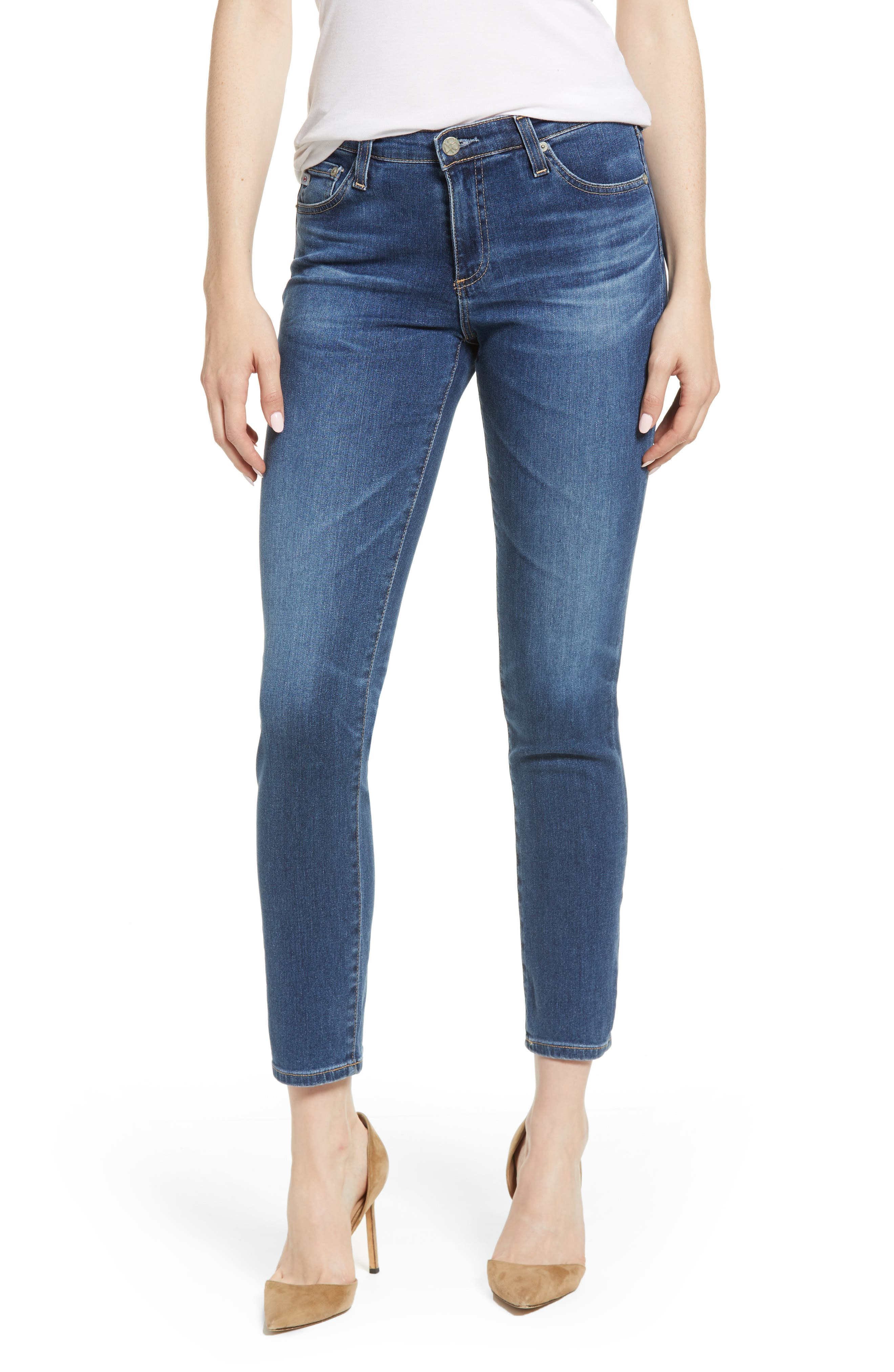 Prima Ankle Cigarette Jeans,                             Main thumbnail 1, color,                             8 YEARS BLUE PORTRAIT