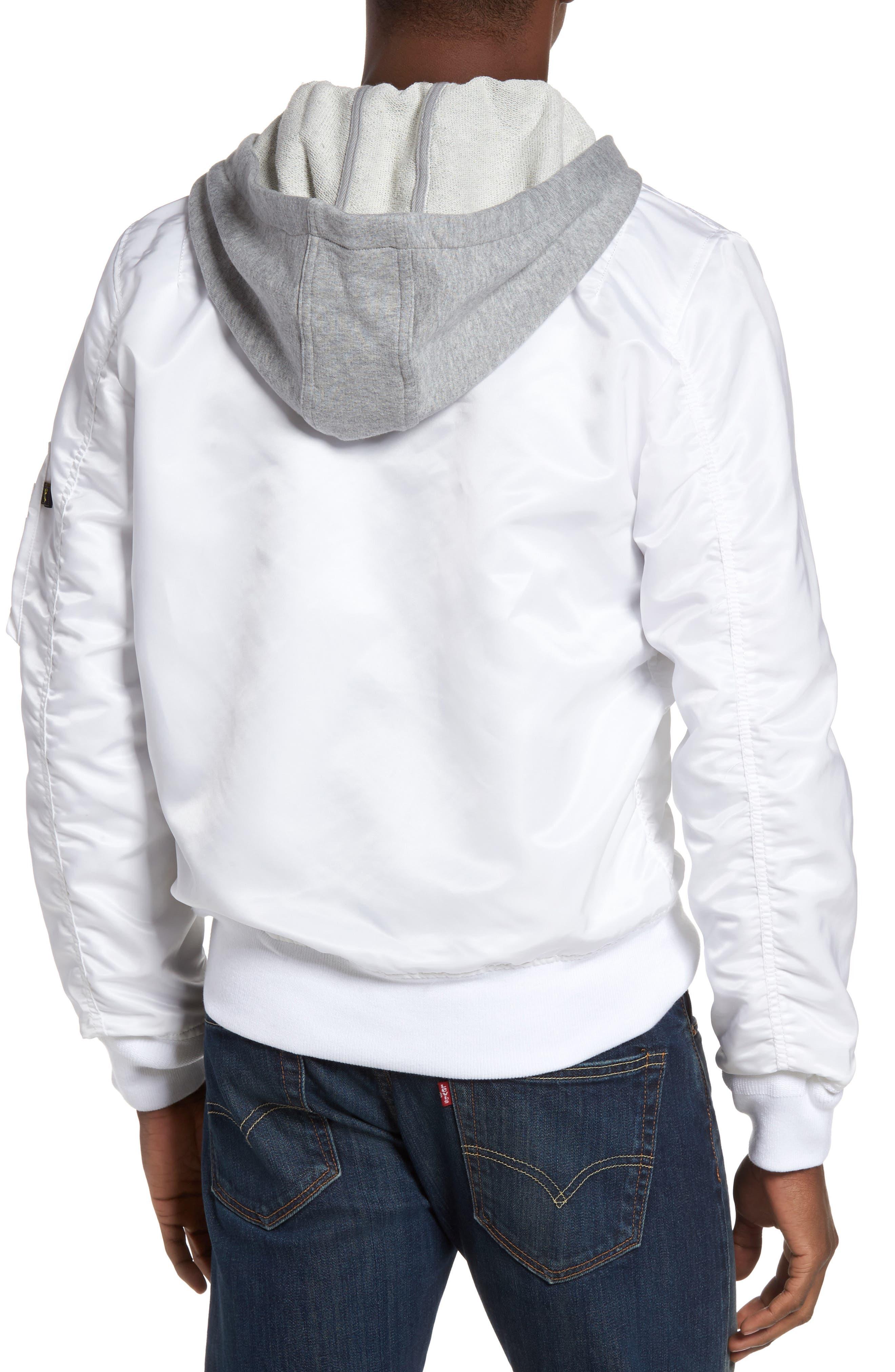 Lightweight L2-B Flight Jacket with Knit Hood,                             Alternate thumbnail 7, color,