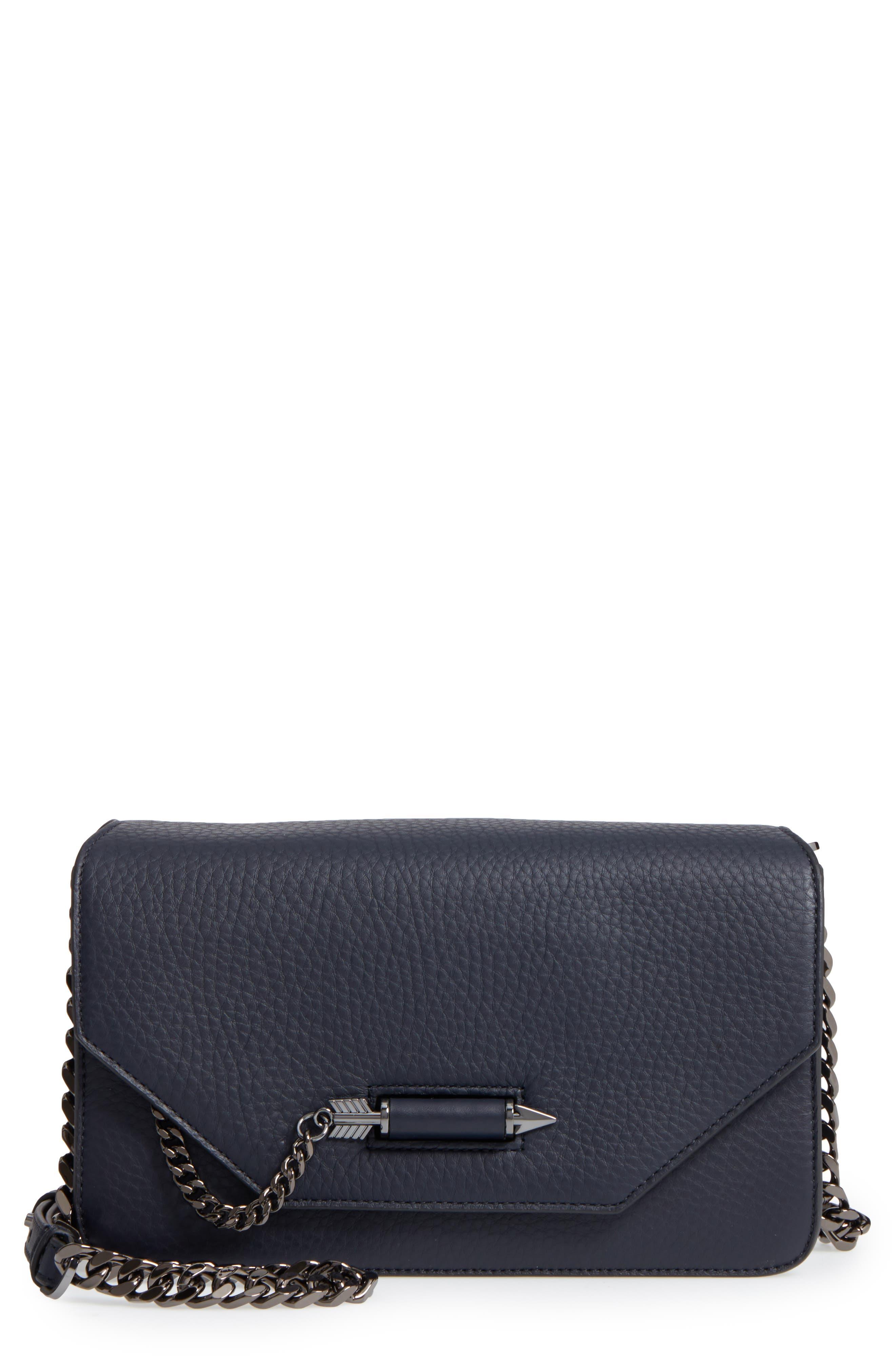 Cortney Nappa Leather Shoulder/Crossbody Bag,                             Main thumbnail 4, color,