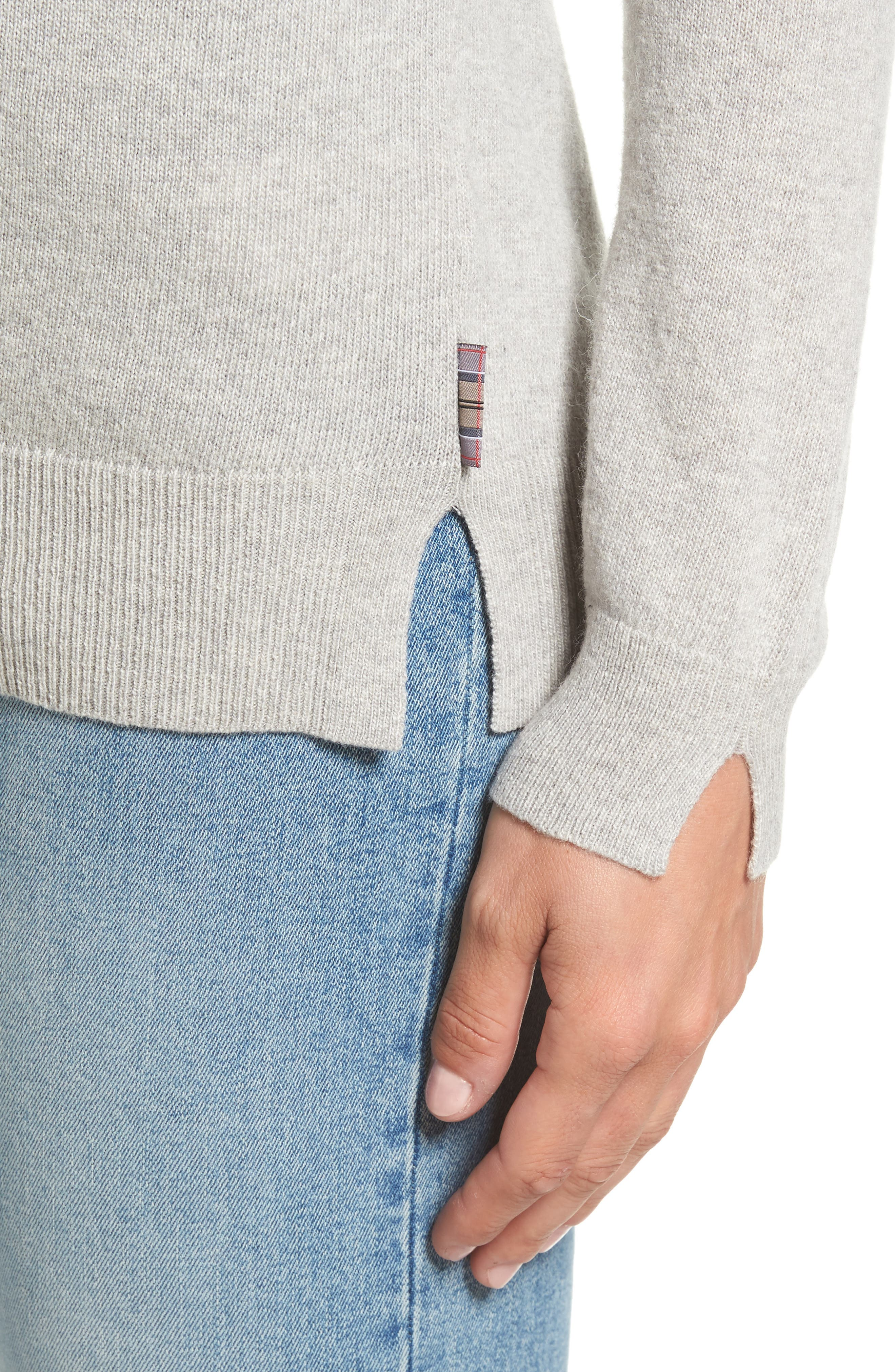 Mill Wool Blend Boatneck Sweater,                             Alternate thumbnail 4, color,