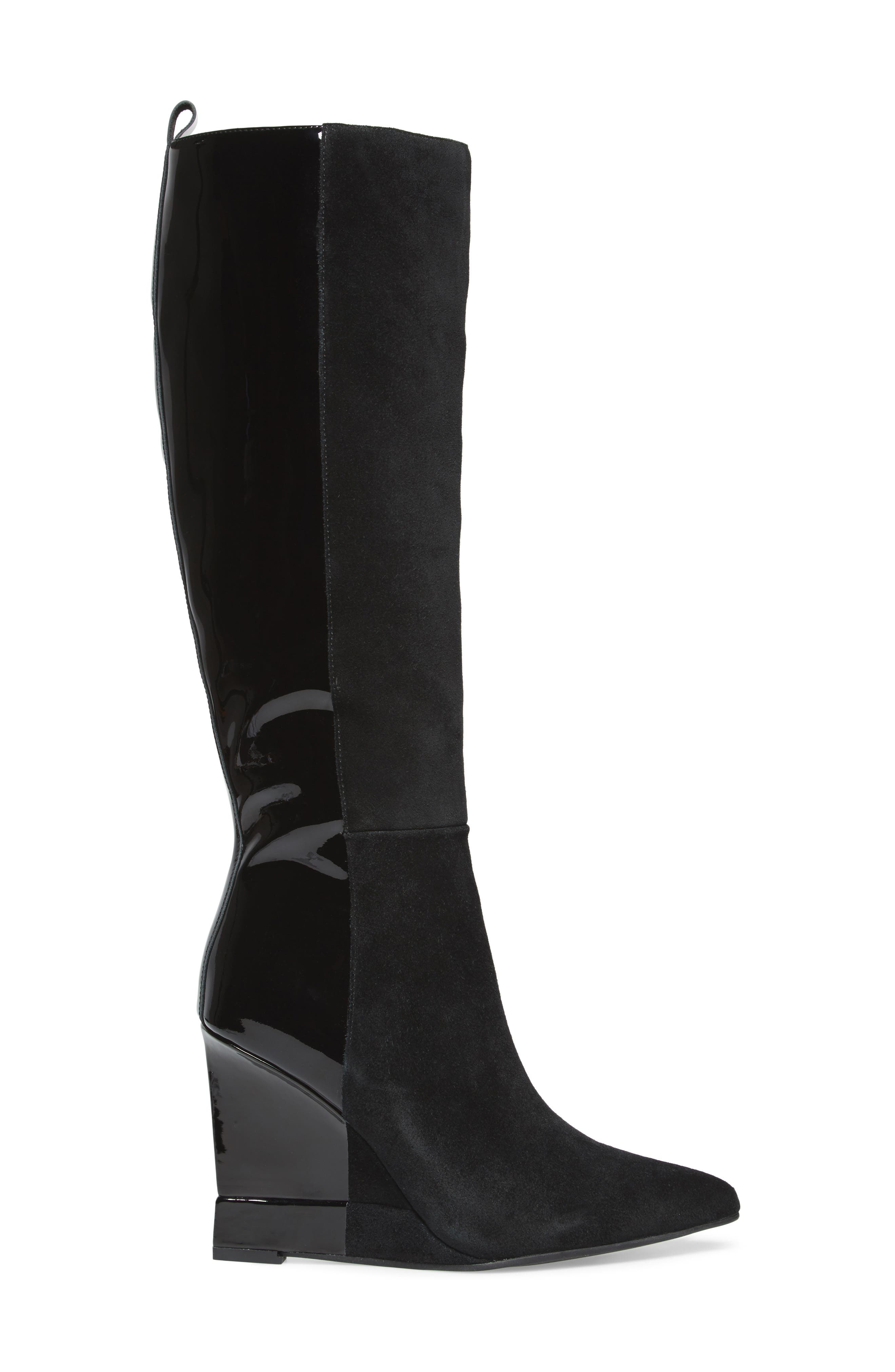 Rosalva Knee High Wedge Boot,                             Alternate thumbnail 3, color,