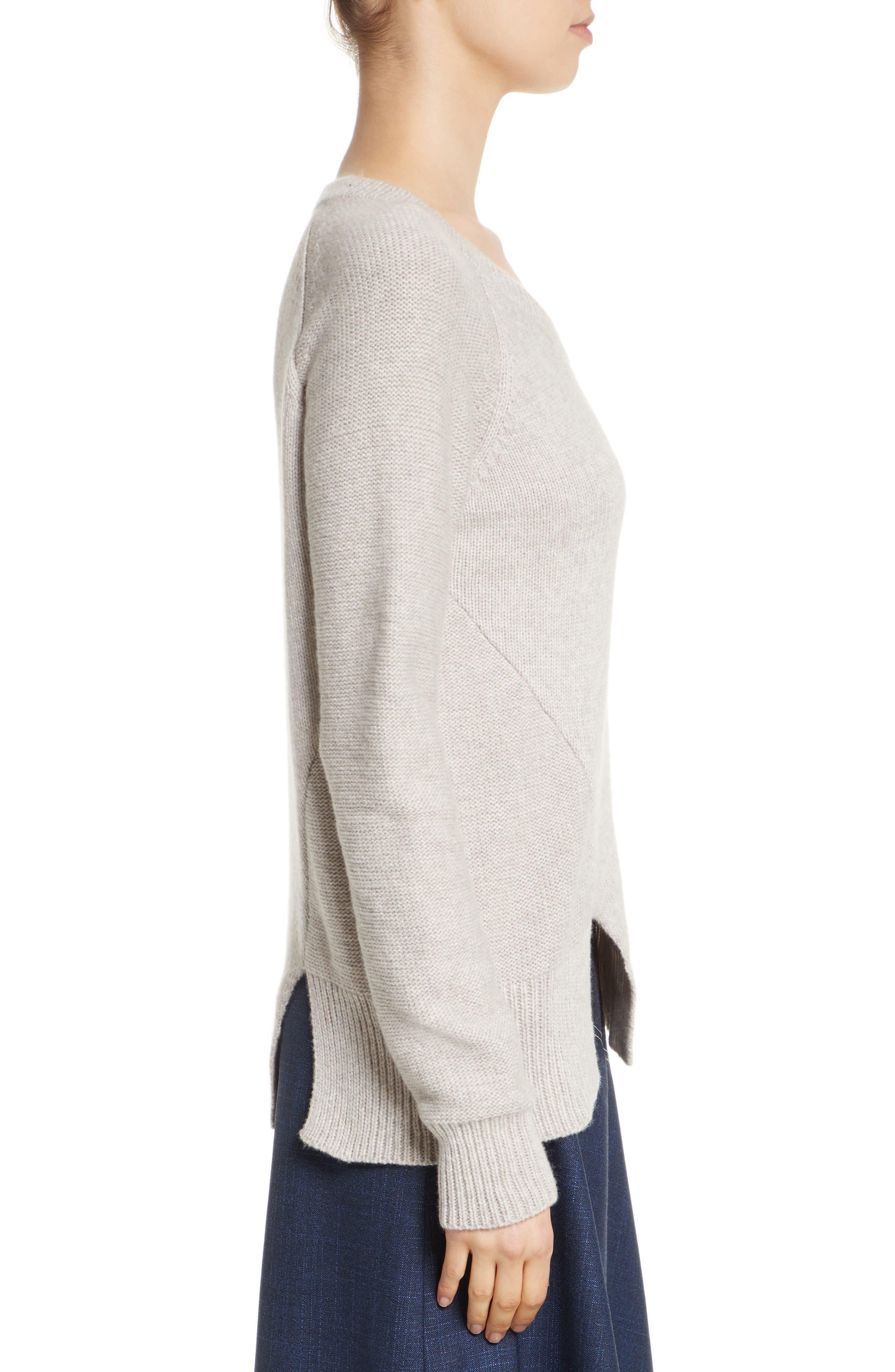 Asymmetrical Wide Neck Sweater,                             Alternate thumbnail 3, color,                             250