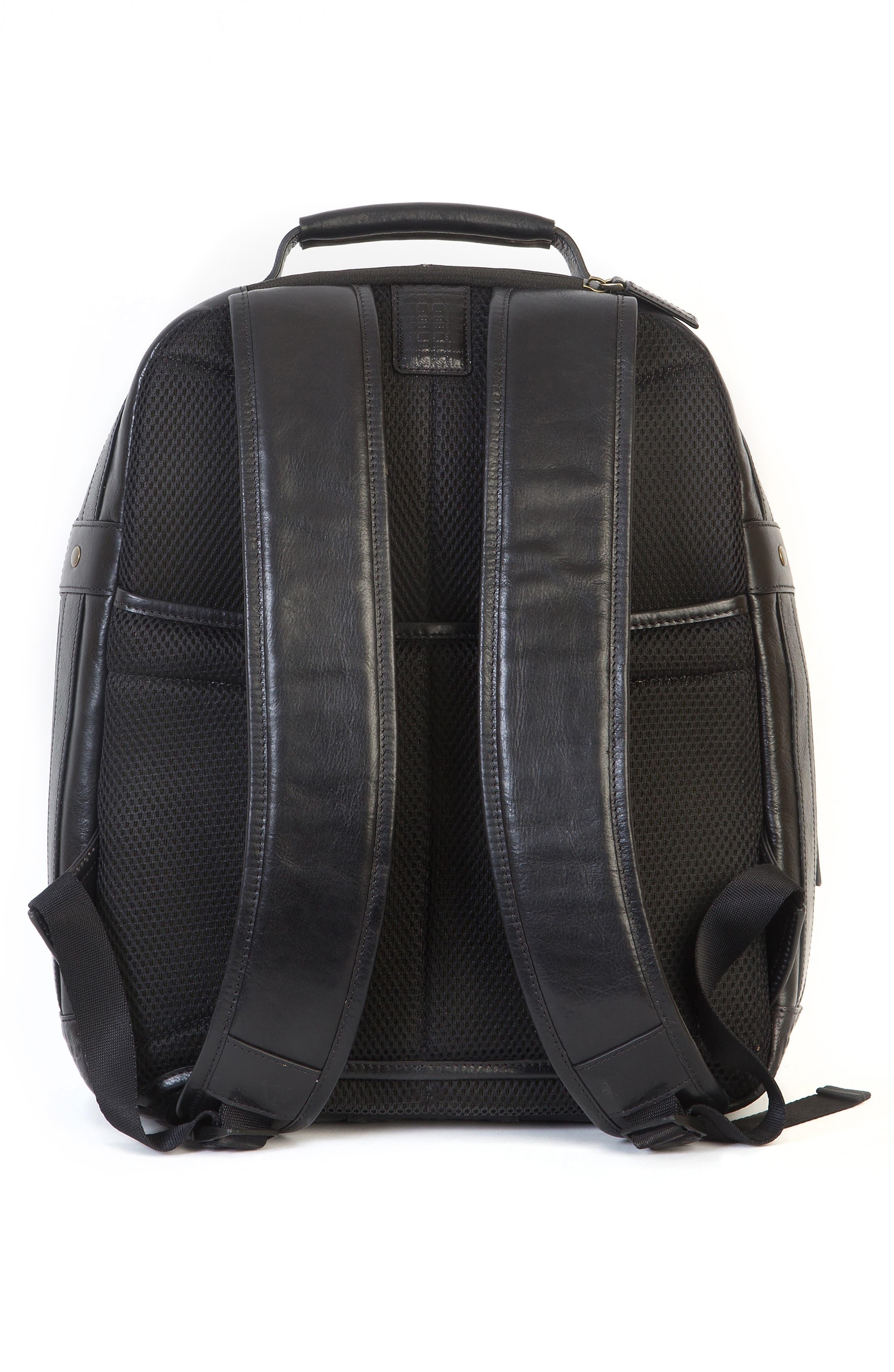 'Becker' Leather Backpack,                             Alternate thumbnail 2, color,                             001
