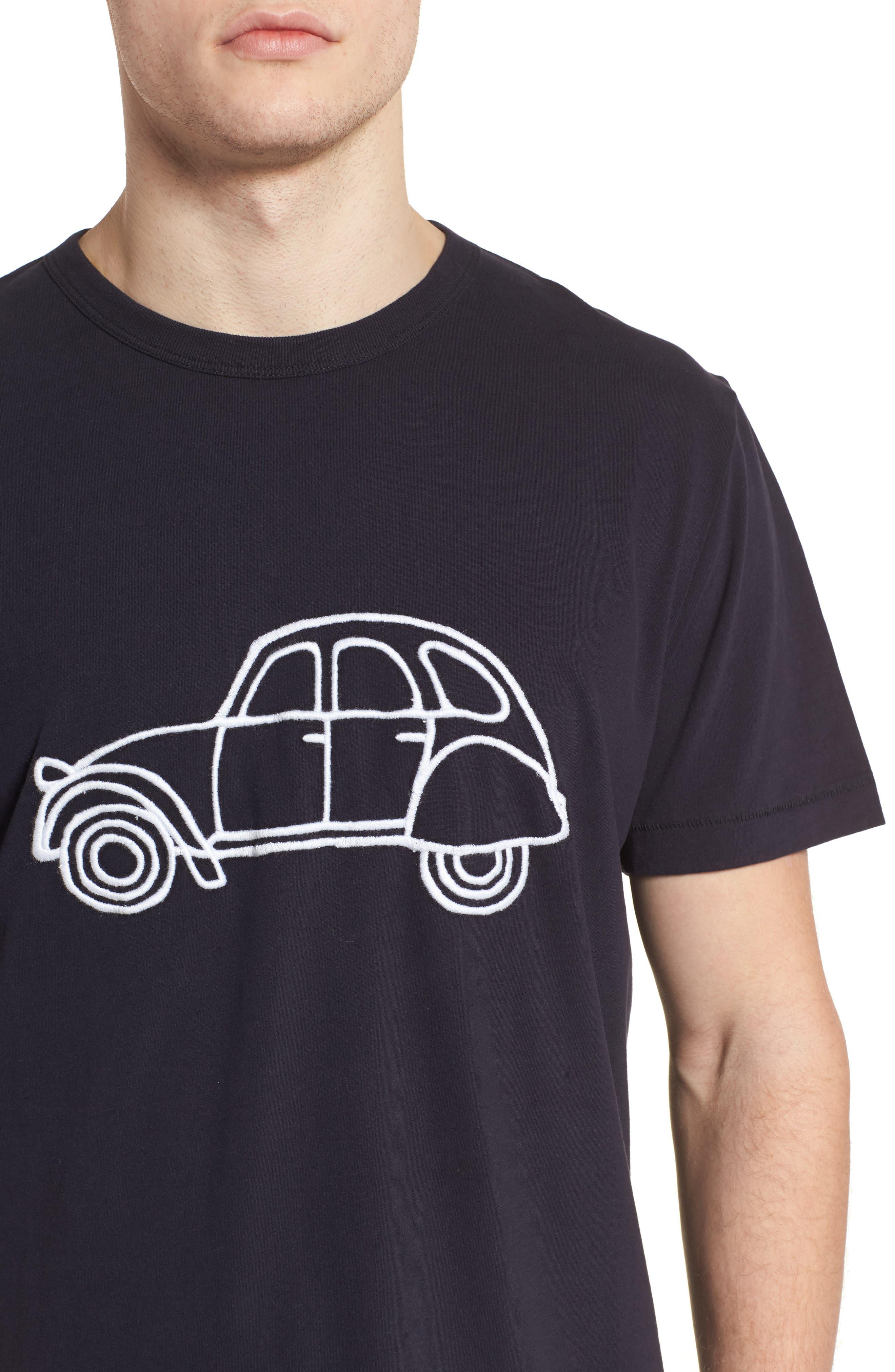 Car Slim Fit Crewneck T-Shirt,                             Alternate thumbnail 4, color,                             491