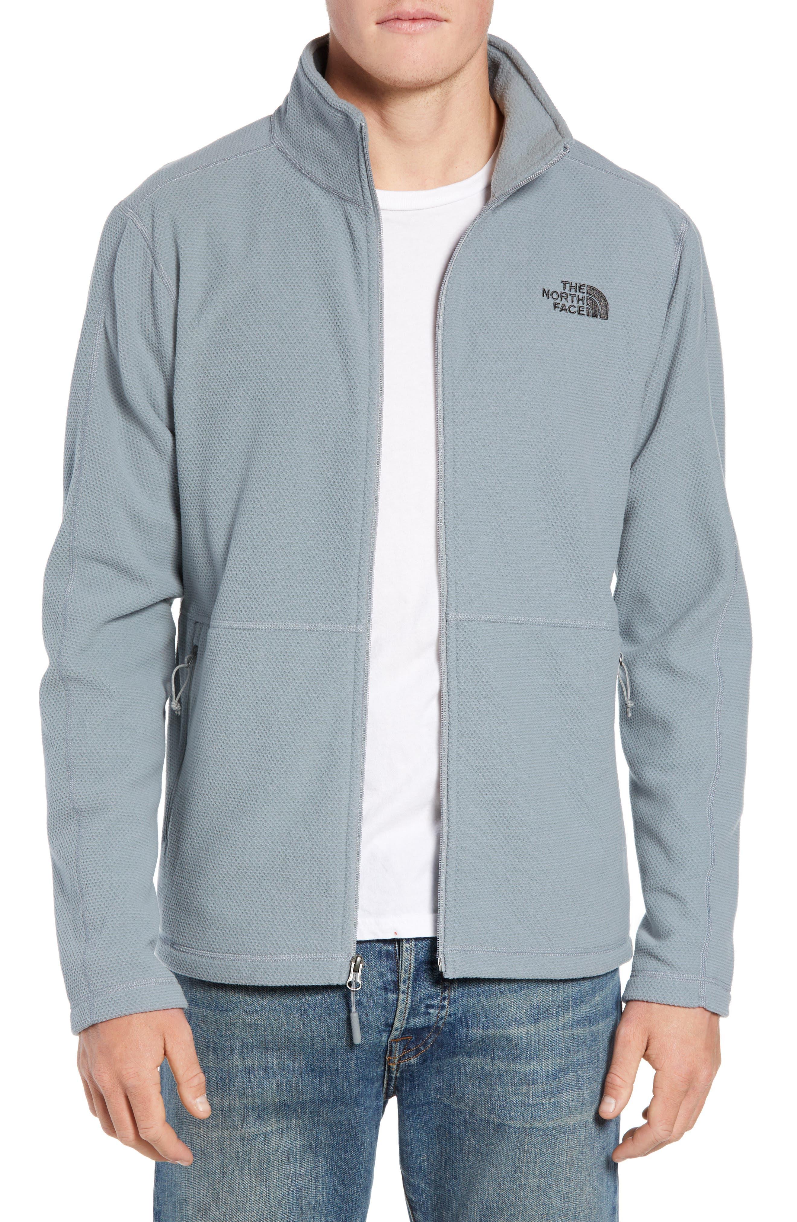 The North Face Texture Cap Rock Fleece Jacket, Grey
