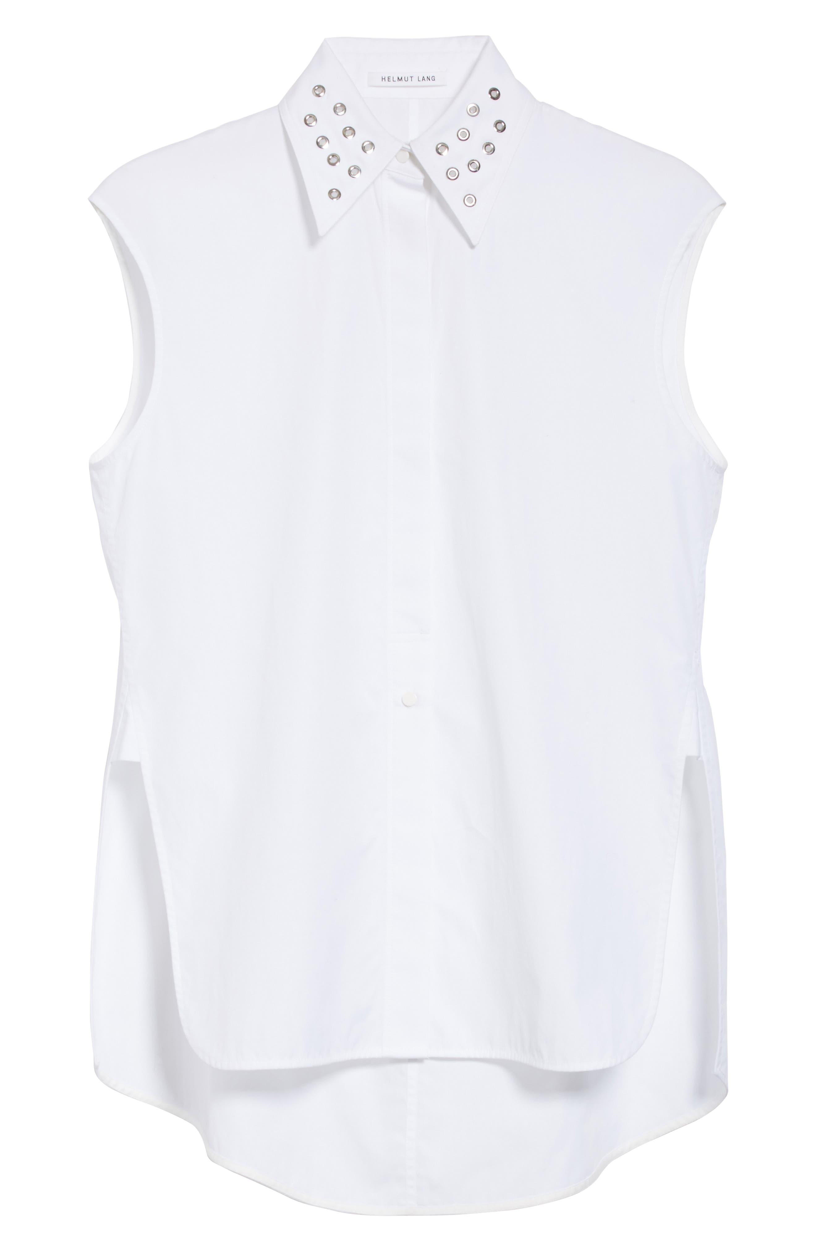 Eyelet Cotton Poplin Shirt,                             Alternate thumbnail 6, color,                             139