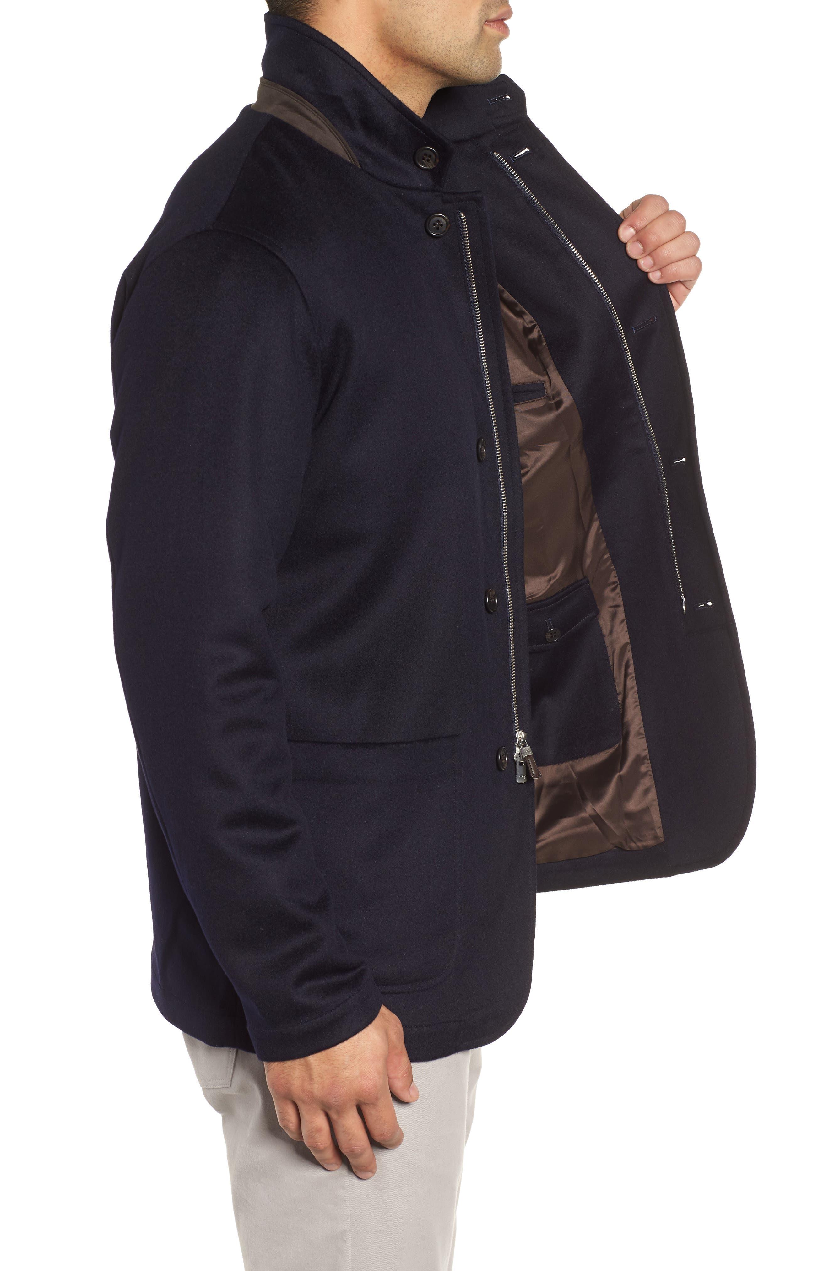 Wade Crown Fleece Jacket,                             Alternate thumbnail 3, color,                             ARCTIC NIGHT