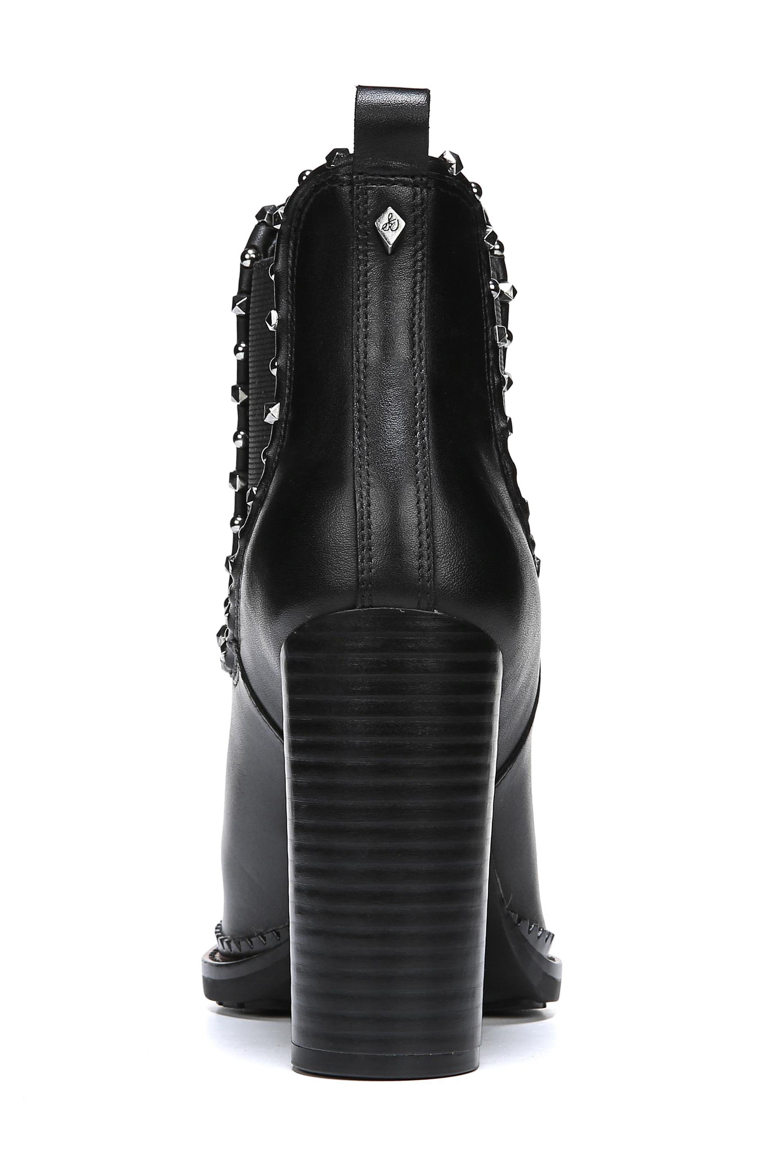 SAM EDELMAN,                             Salma Studded Chelsea Boot,                             Alternate thumbnail 7, color,                             001