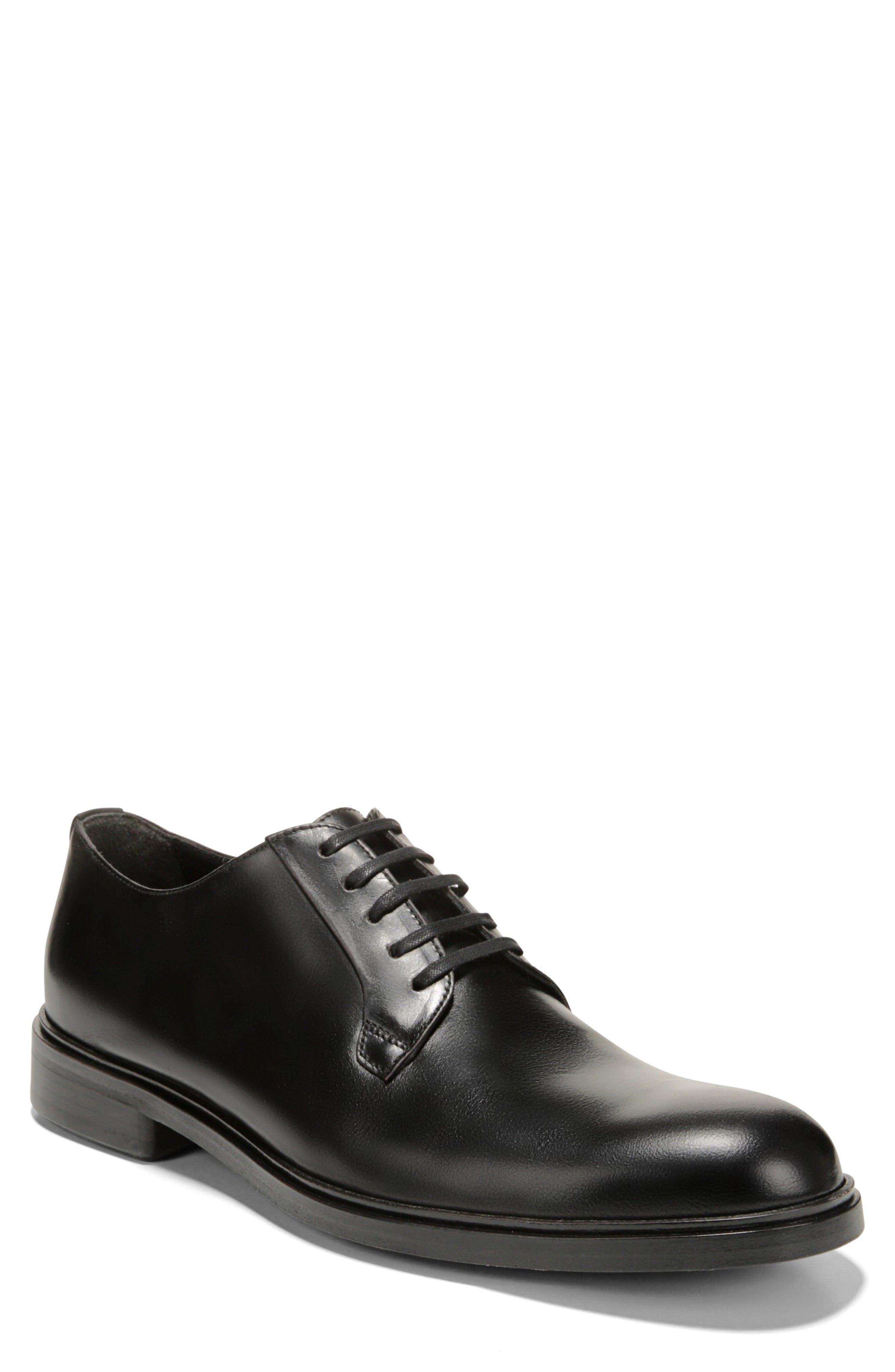 Boreum Plain Toe Derby,                         Main,                         color, BLACK