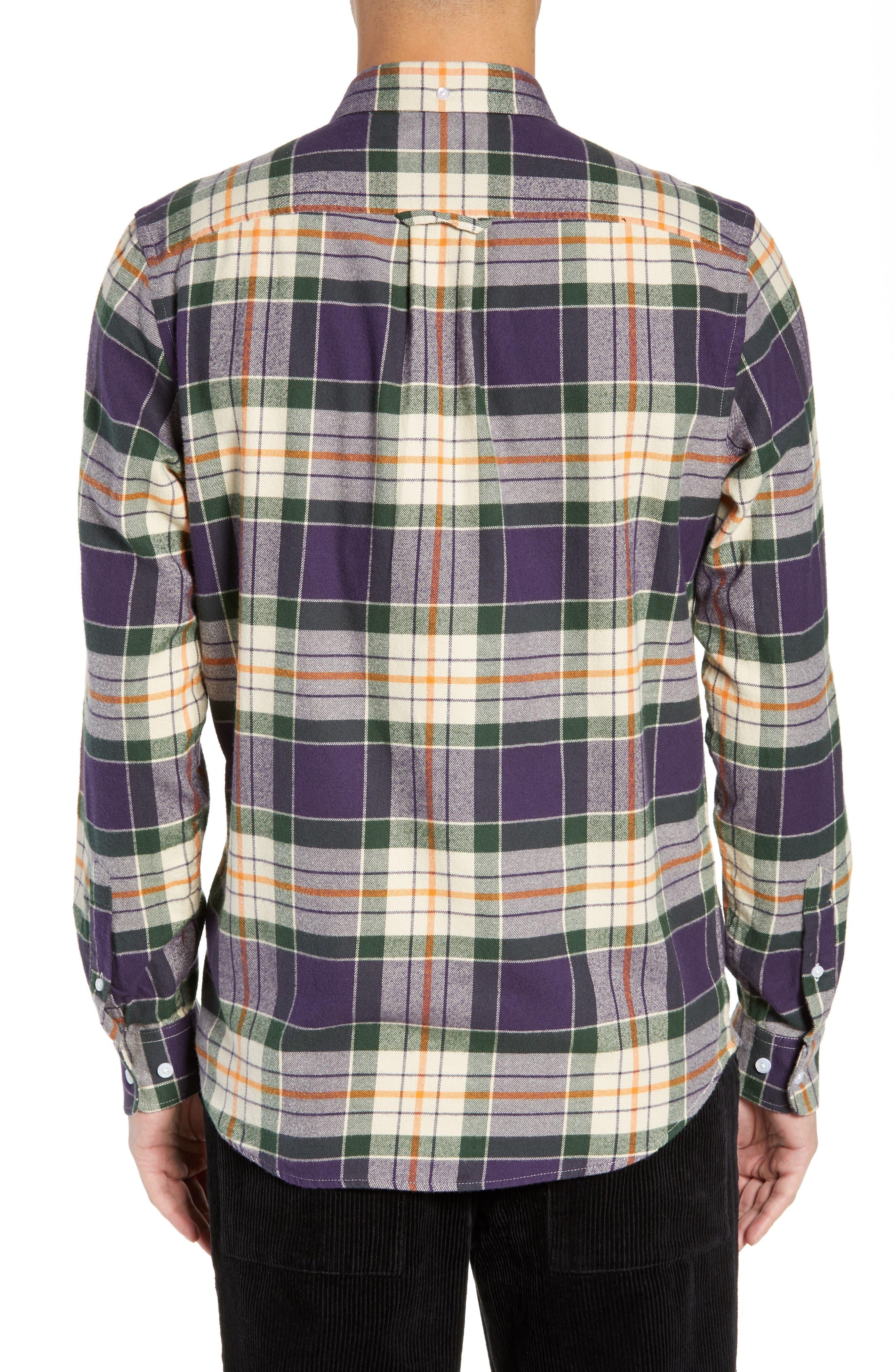 Ovavi Plaid Flannel Shirt,                             Alternate thumbnail 3, color,                             542