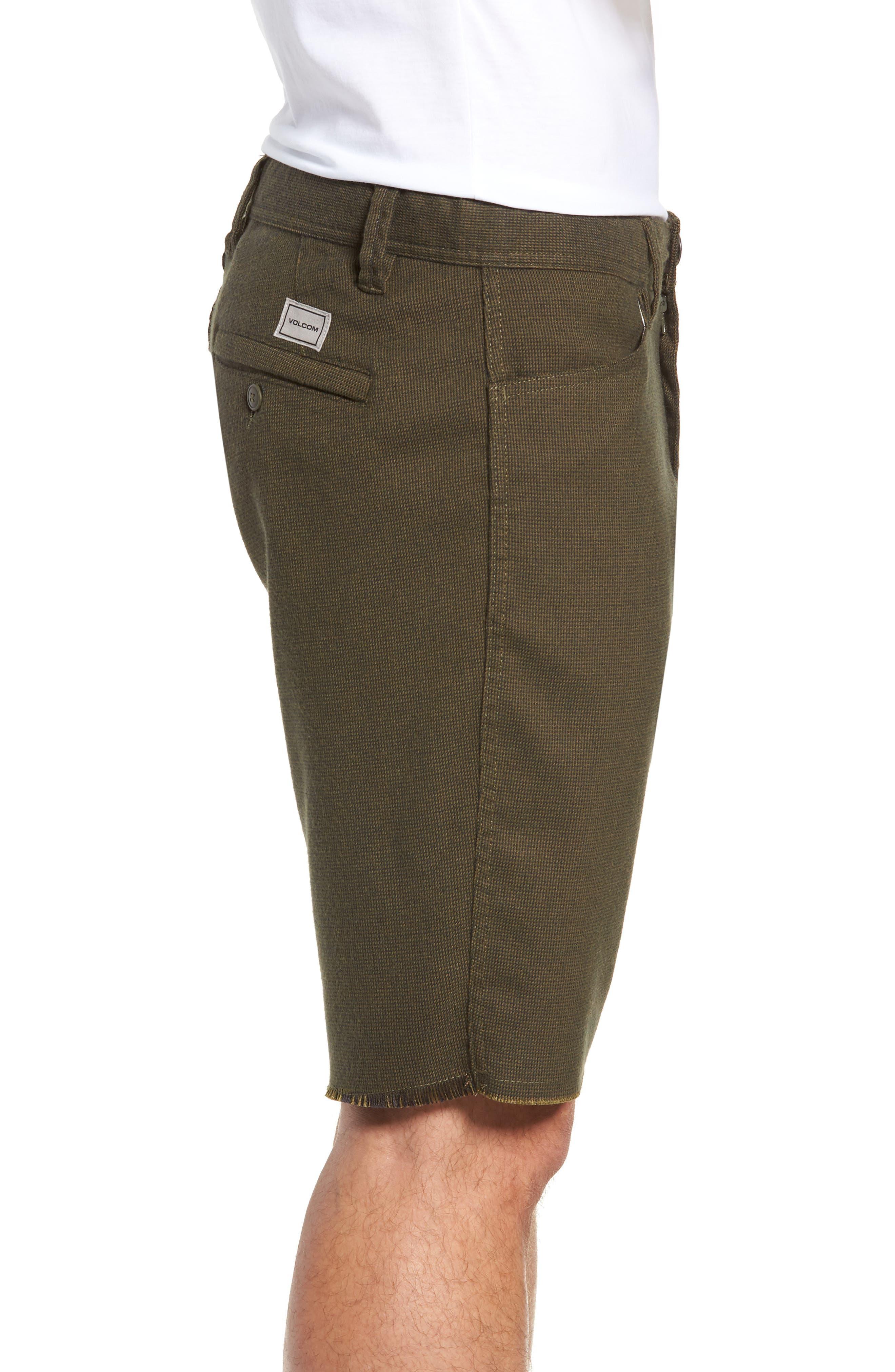 Gritter Thrifter Shorts,                             Alternate thumbnail 3, color,                             GREENTEA