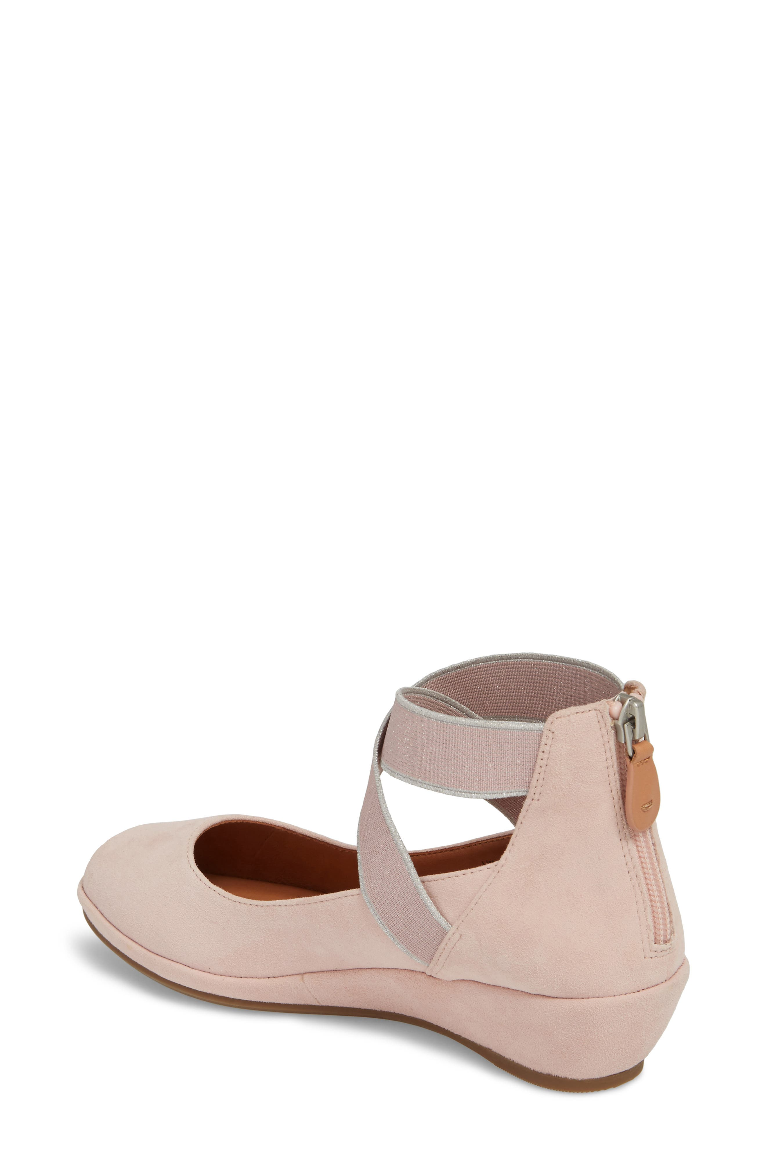 by Kenneth Cole Lisa Wedge Sandal,                             Alternate thumbnail 2, color,                             PEONY SUEDE