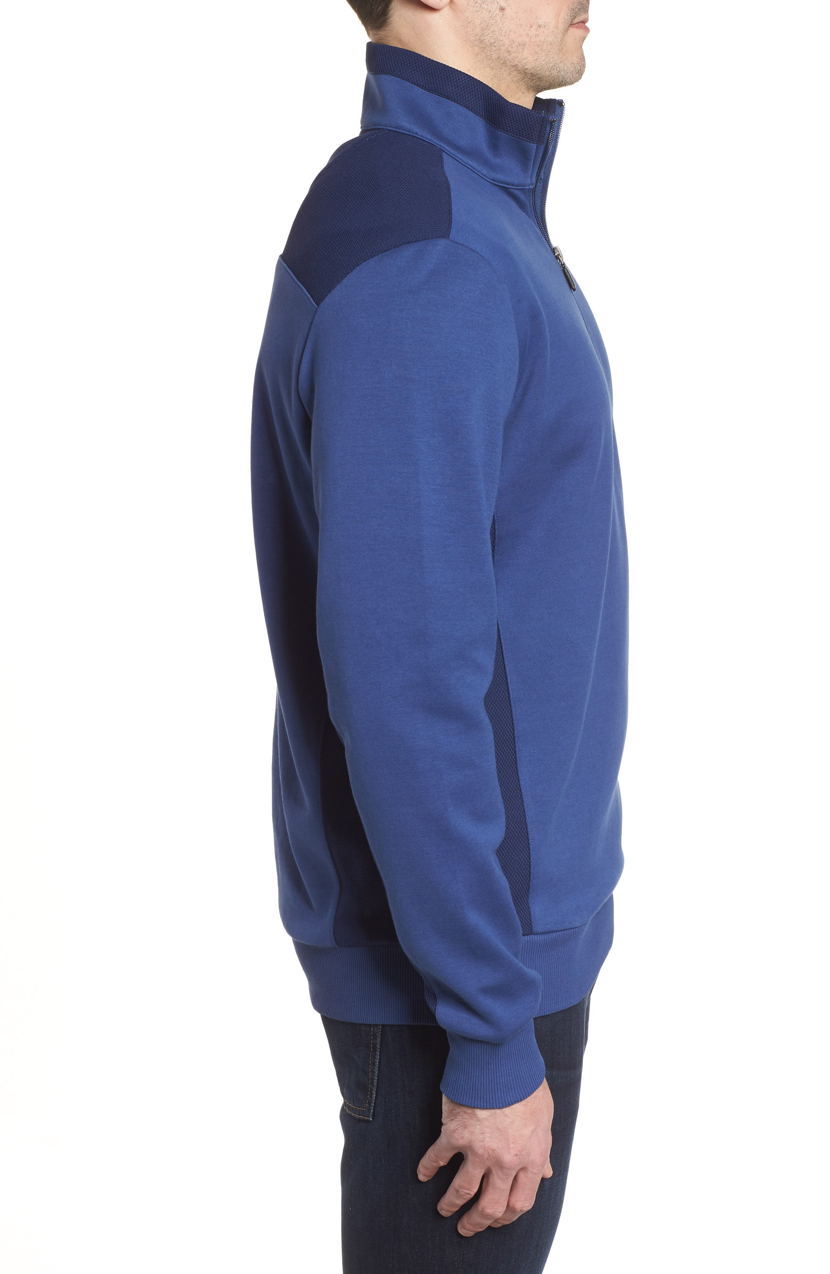 Regular Fit Knit Quarter Zip Pullover,                             Alternate thumbnail 10, color,