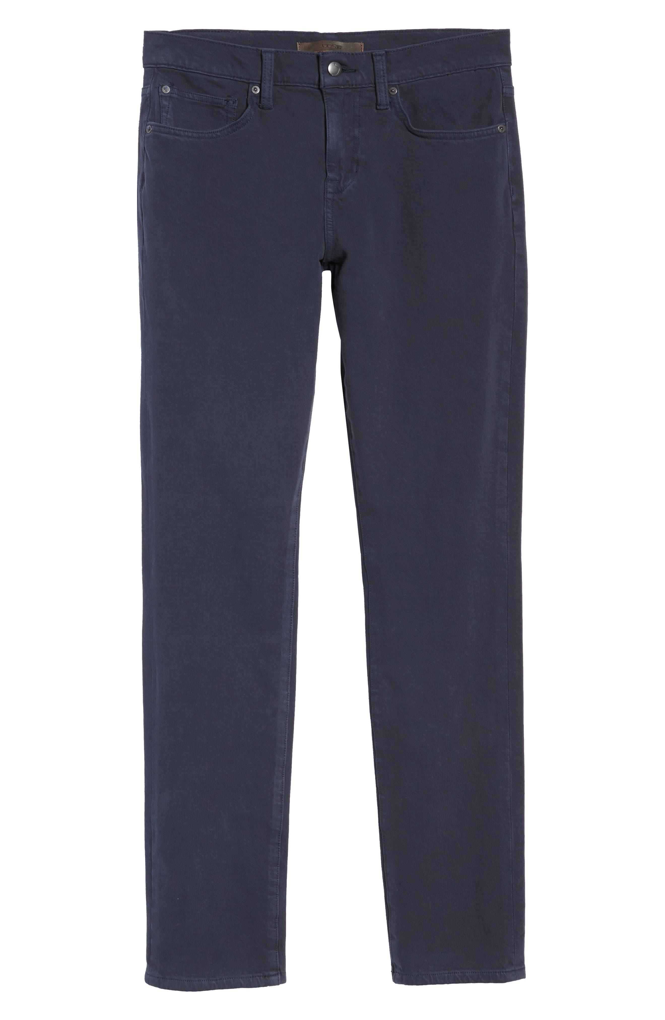 Kinetic Slim Fit Twill Pants,                             Alternate thumbnail 6, color,                             NAVY