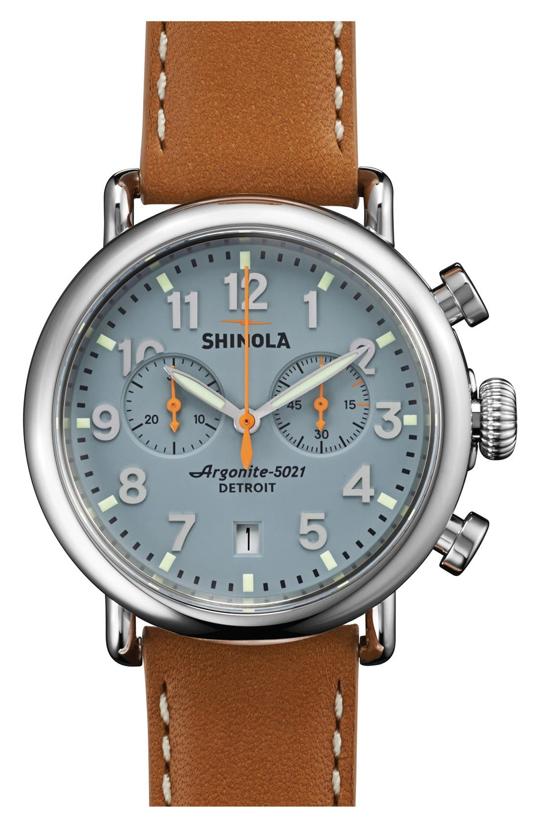 'The Runwell Chrono' Leather Strap Watch, 41mm,                             Main thumbnail 6, color,